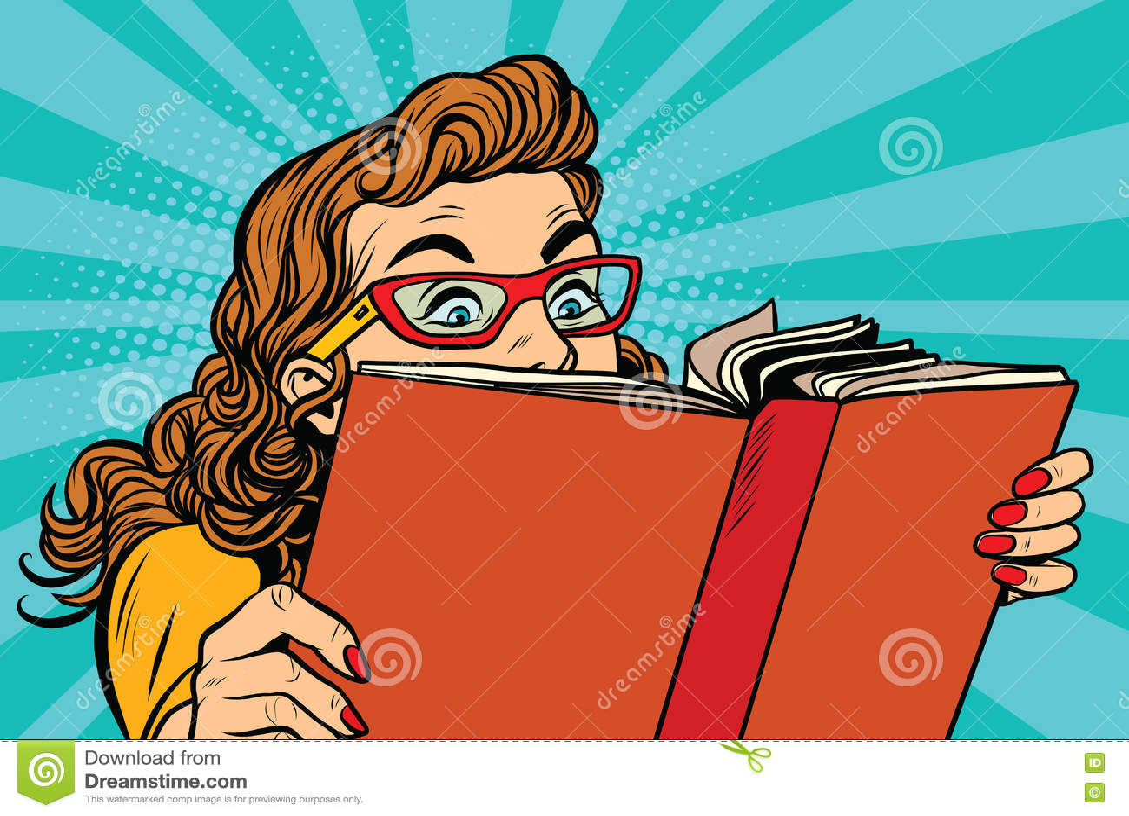 Señora joven que lee un libro