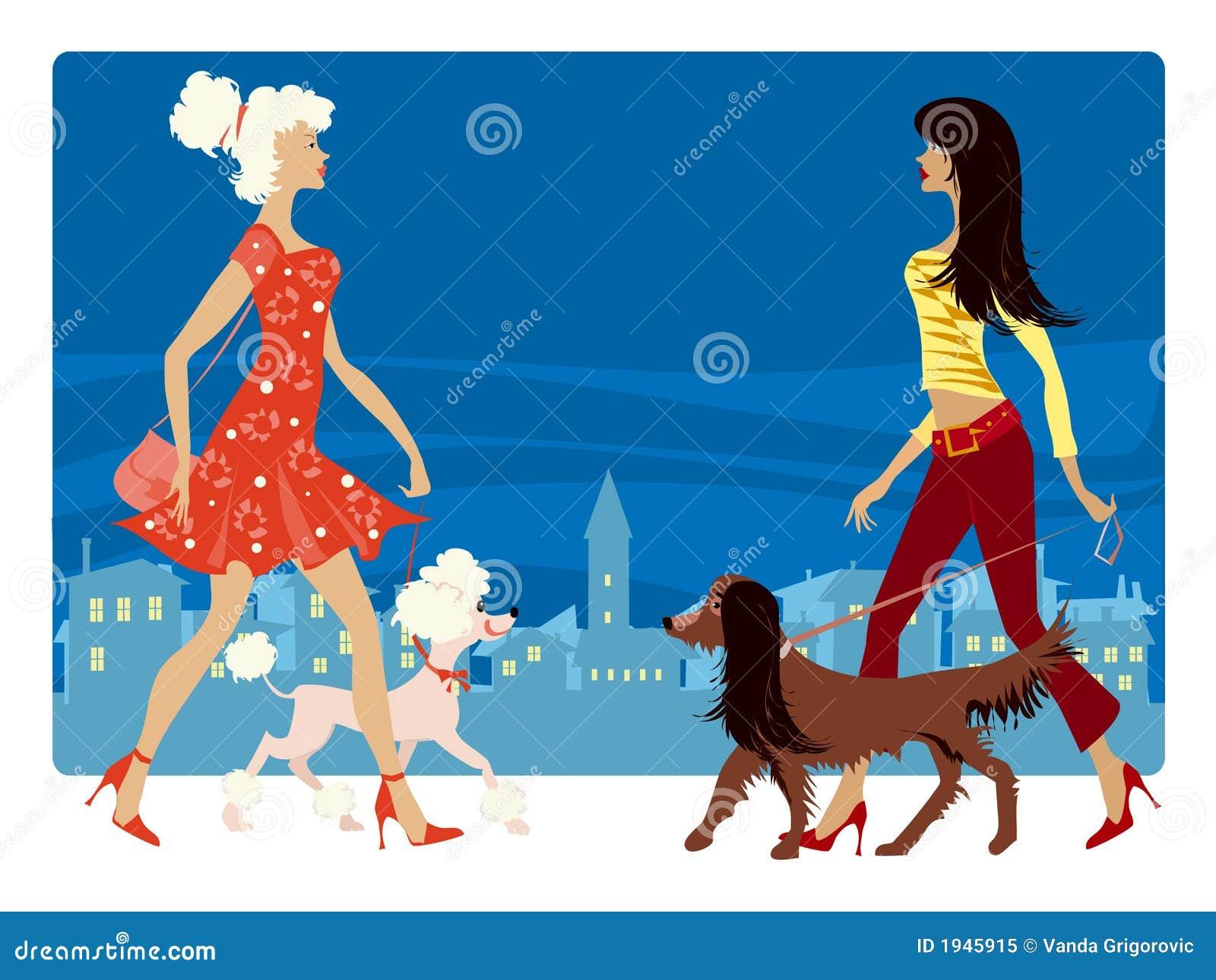 Señoras y sus perros