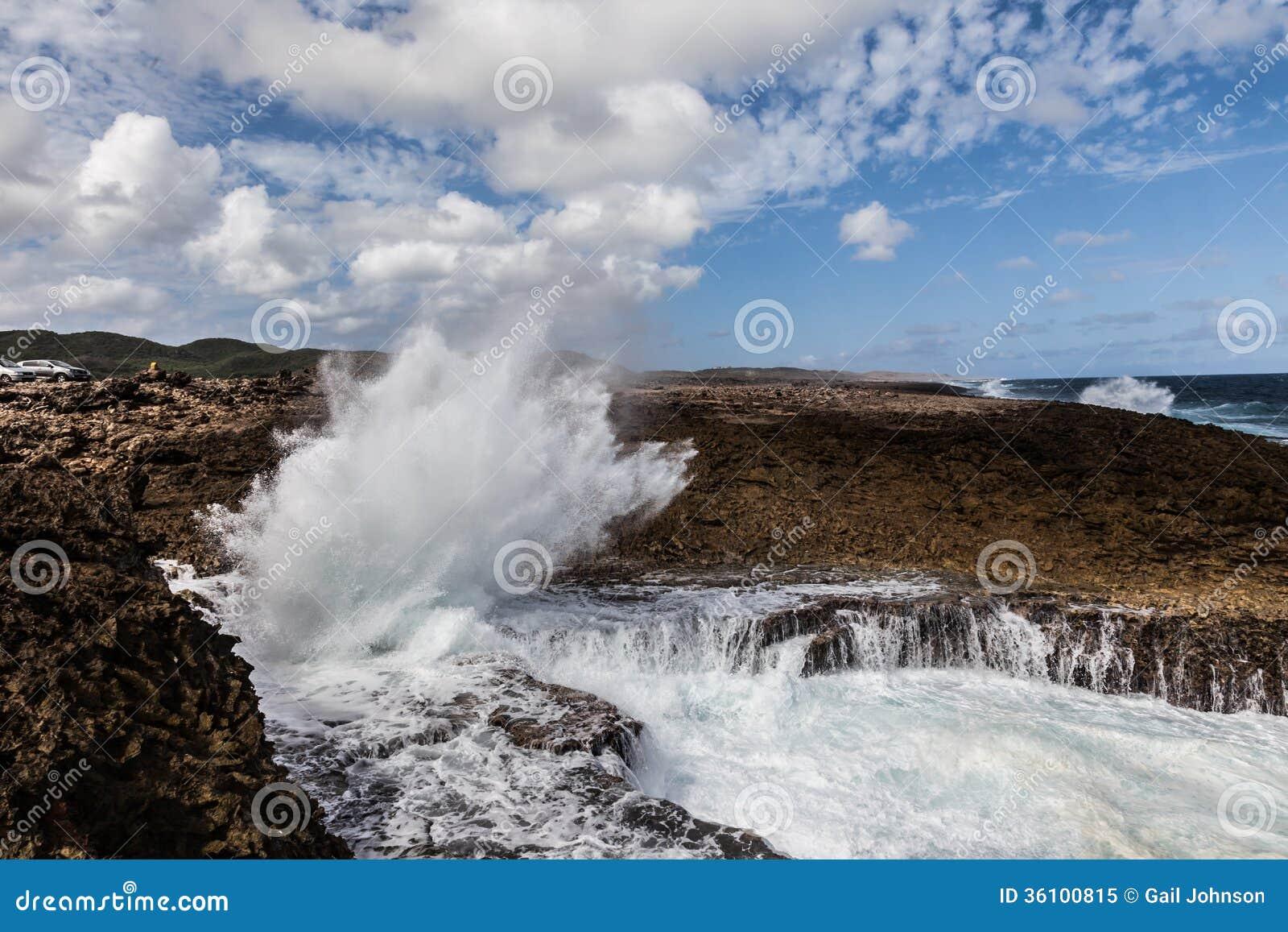 Se briser ondule chez Shete Boka Curaçao