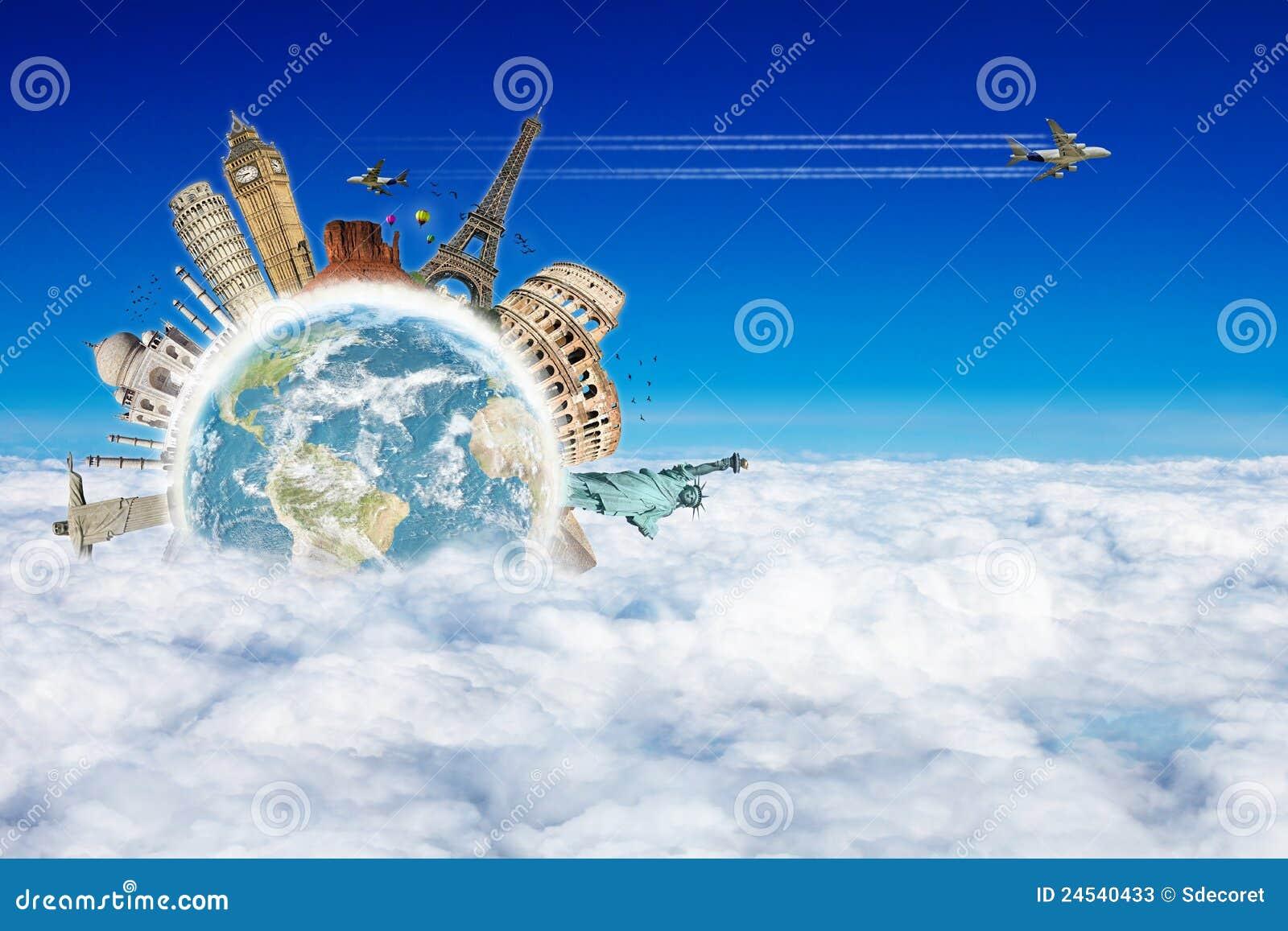 Se déplacent le concept de nuages du monde