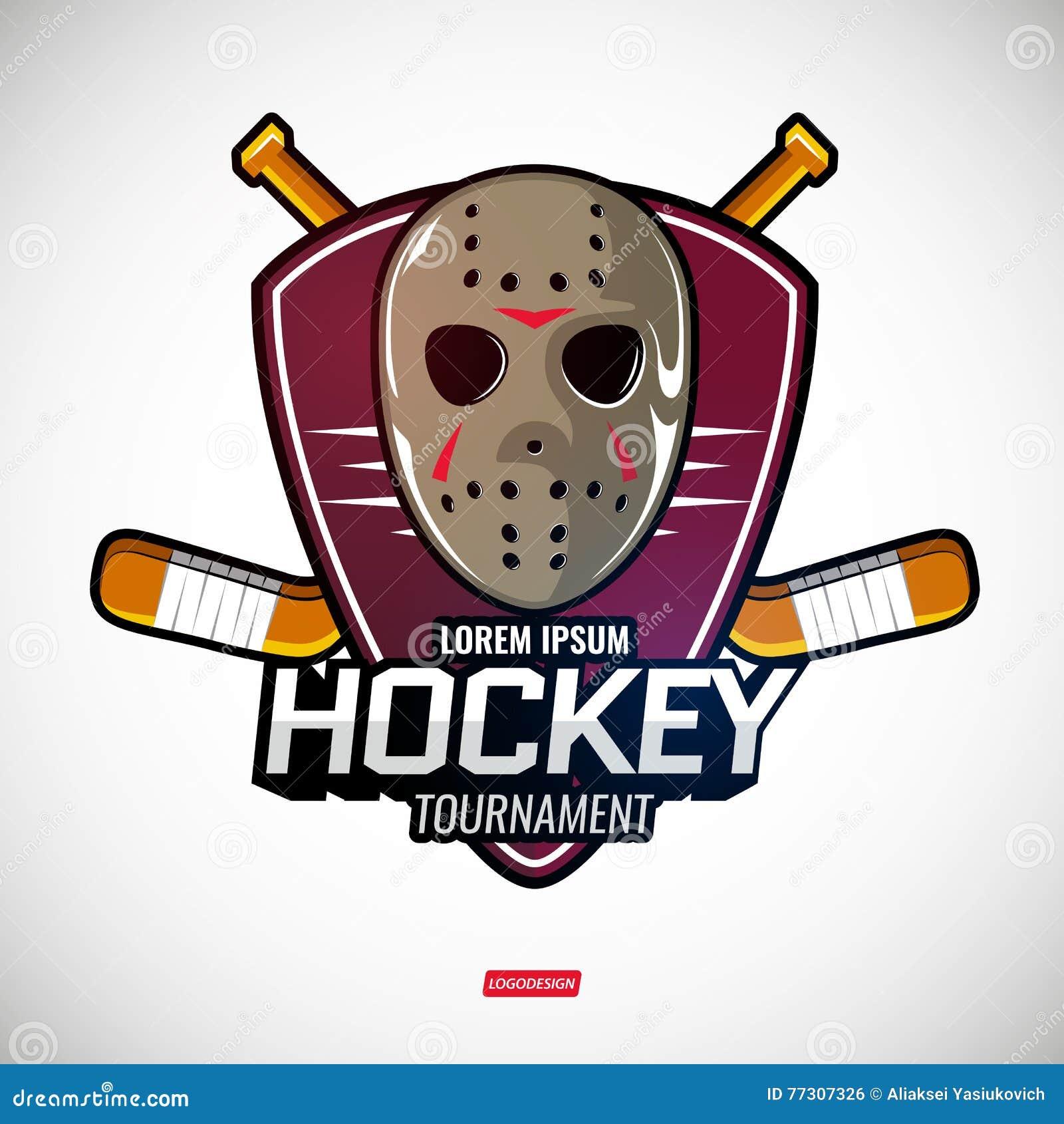 Se divierte los logotipos para el hockey