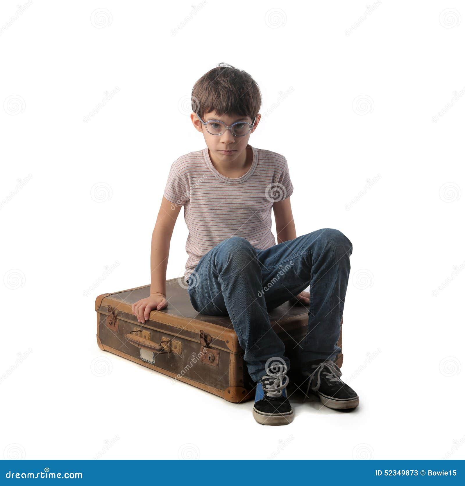 Se reposer sur la vieille valise