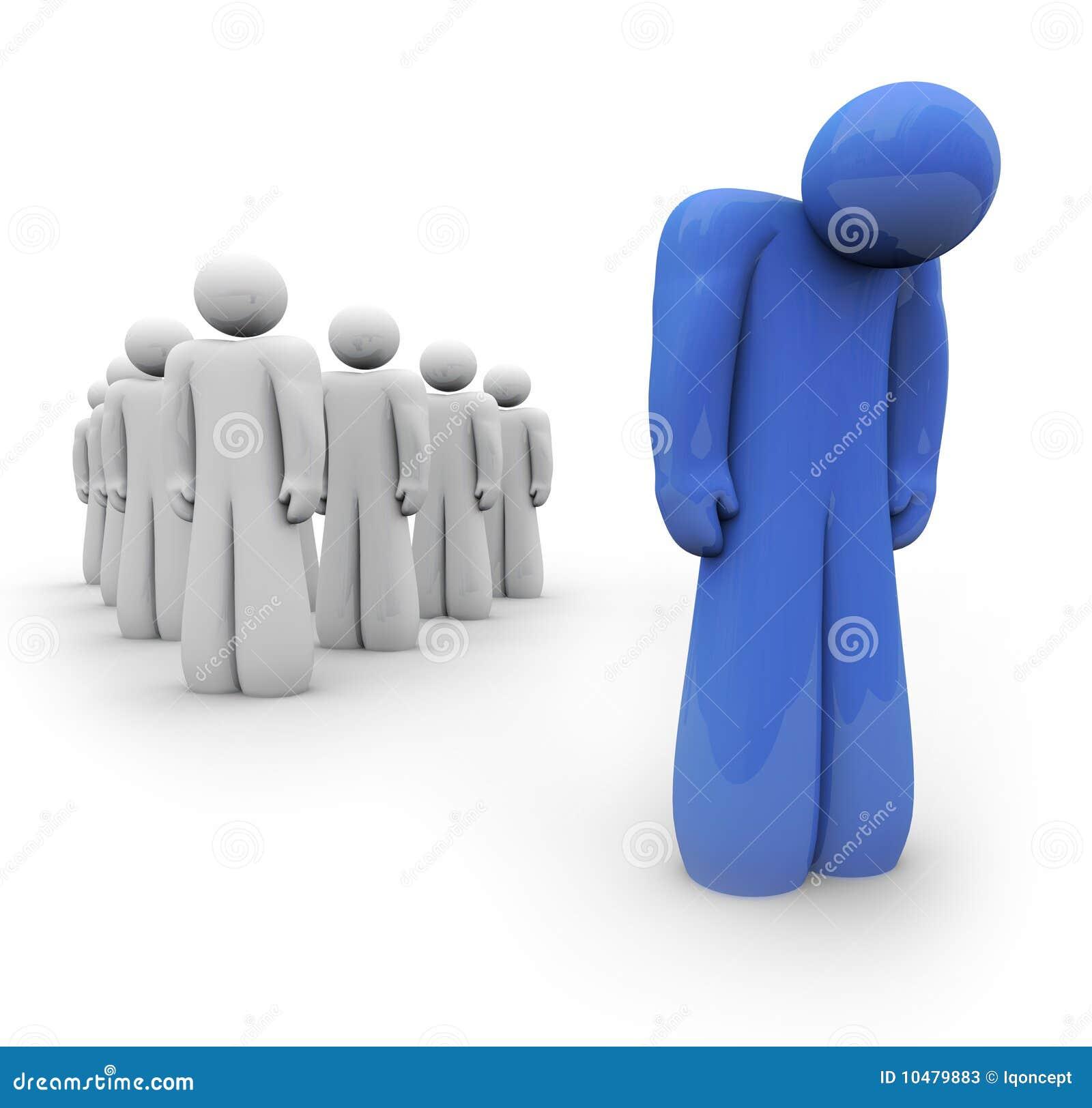 Se sentir bleu - une personne déprimée