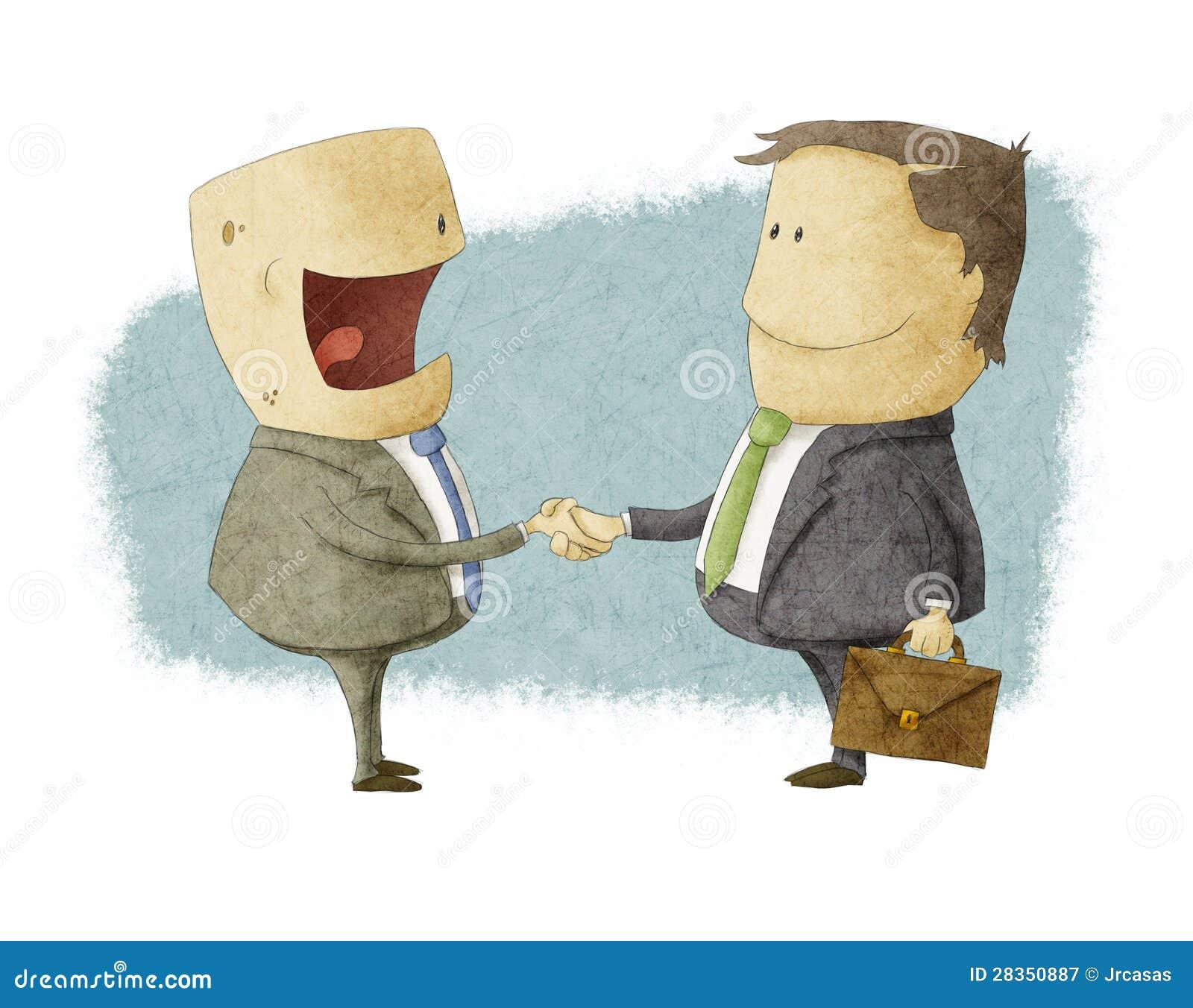 Se serrer la main sur l accord de atteinte