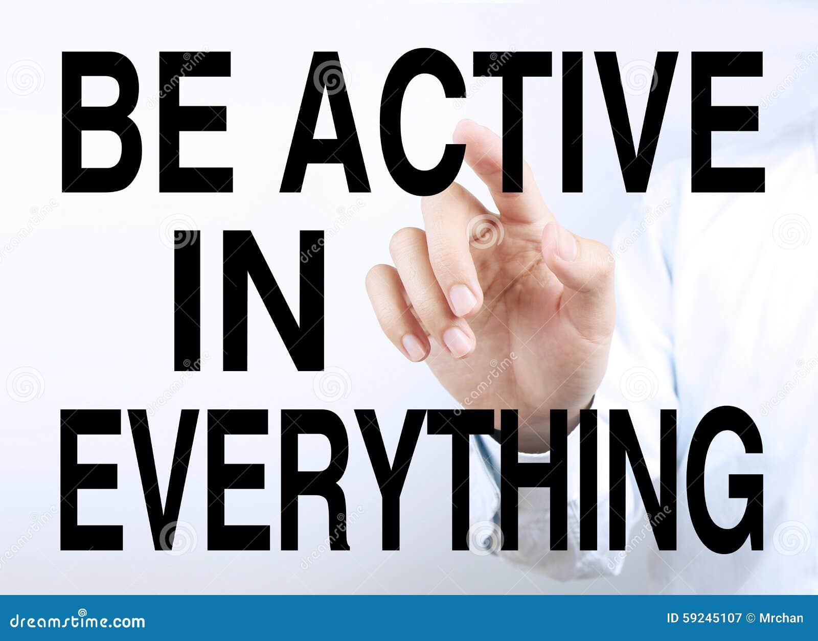Download Sea activo en todo imagen de archivo. Imagen de actividad - 59245107