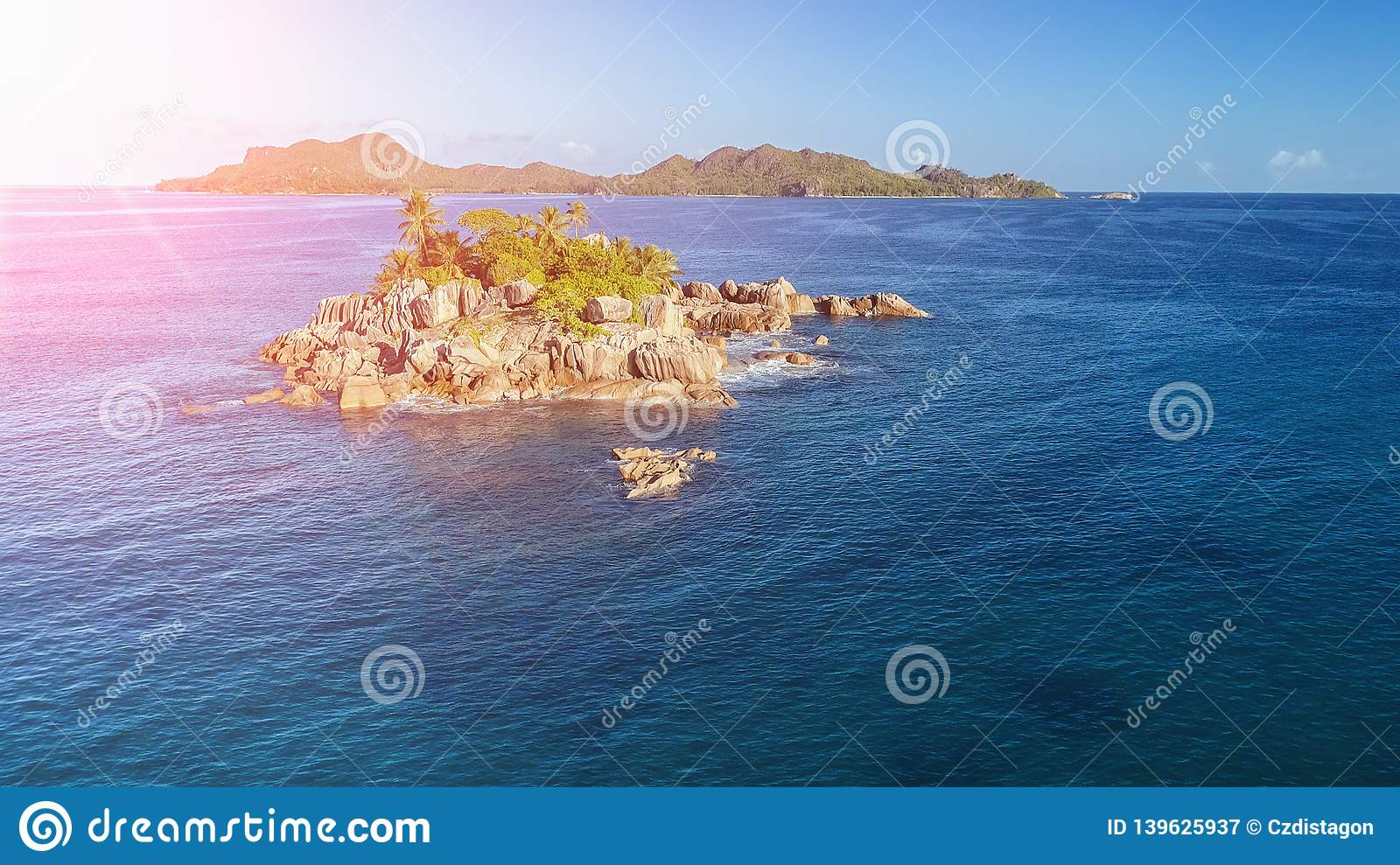 Sea aerial view, Top view,amazing nature background.The color of the water and beautifully bright. Azure beach with rocky mountain