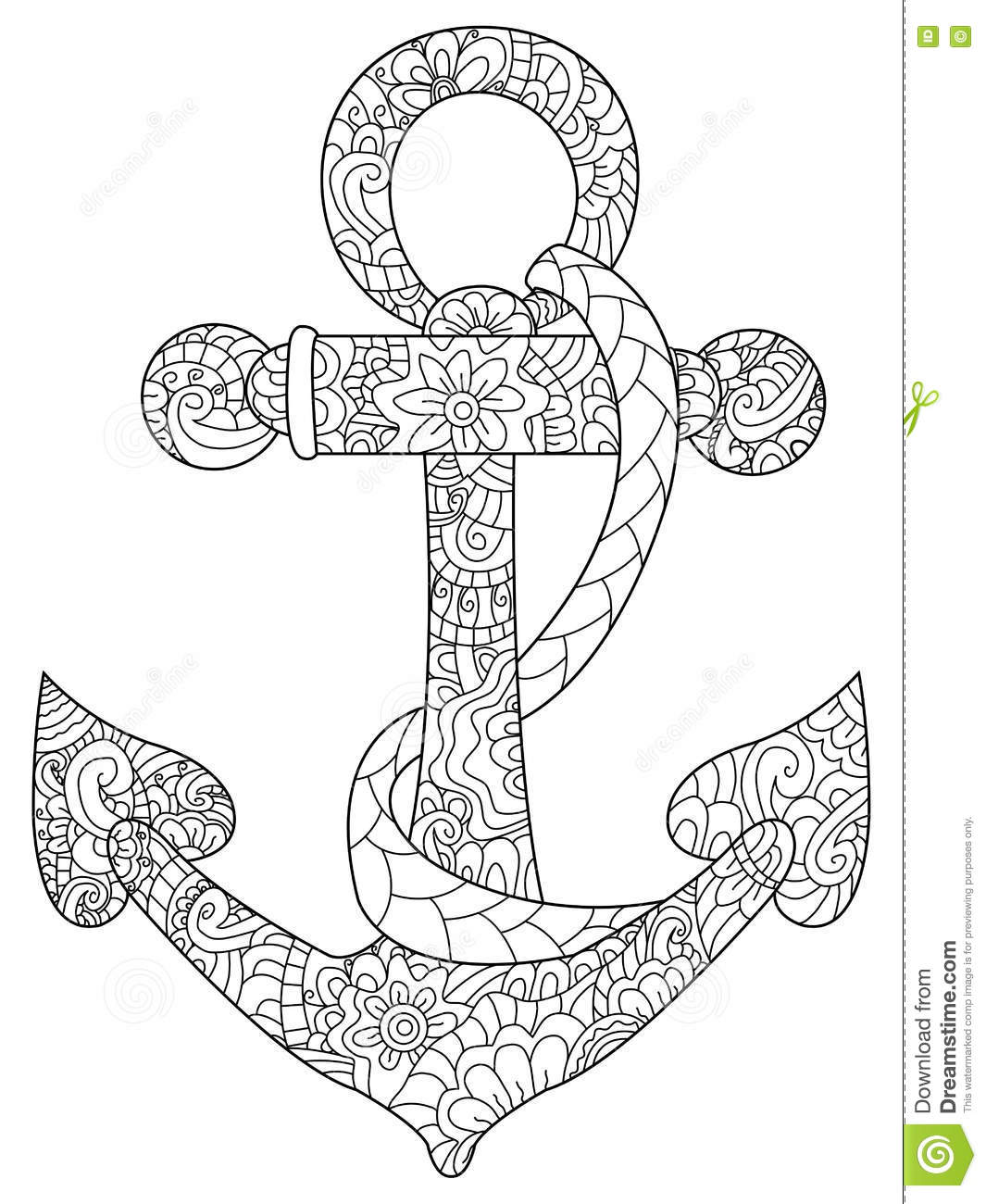 adult anchor black book coloring