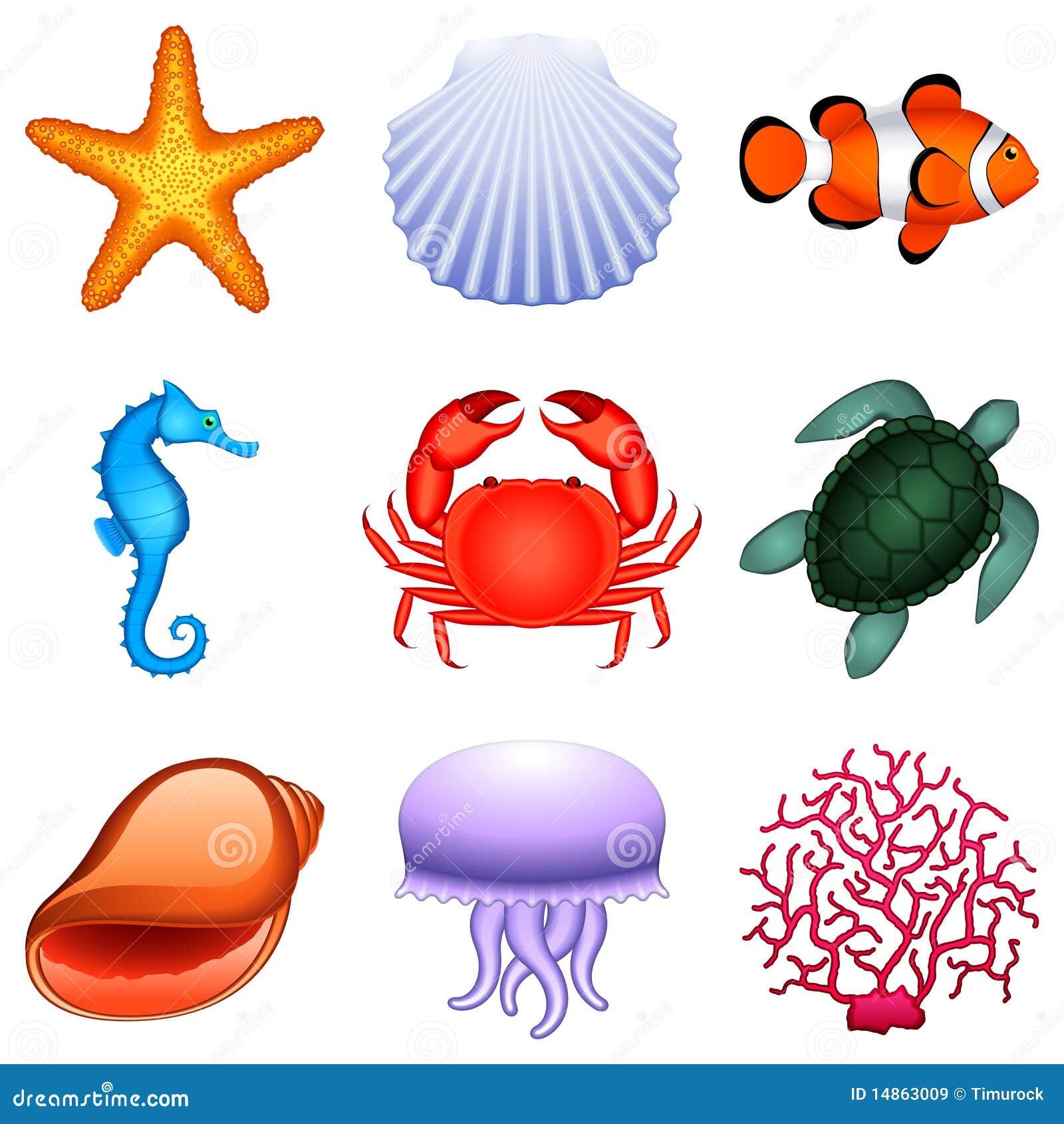 school of tropical fish clip art