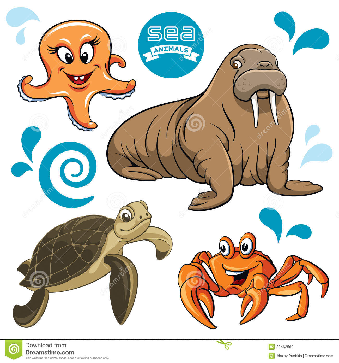 sea animals royalty free stock images image 32462569