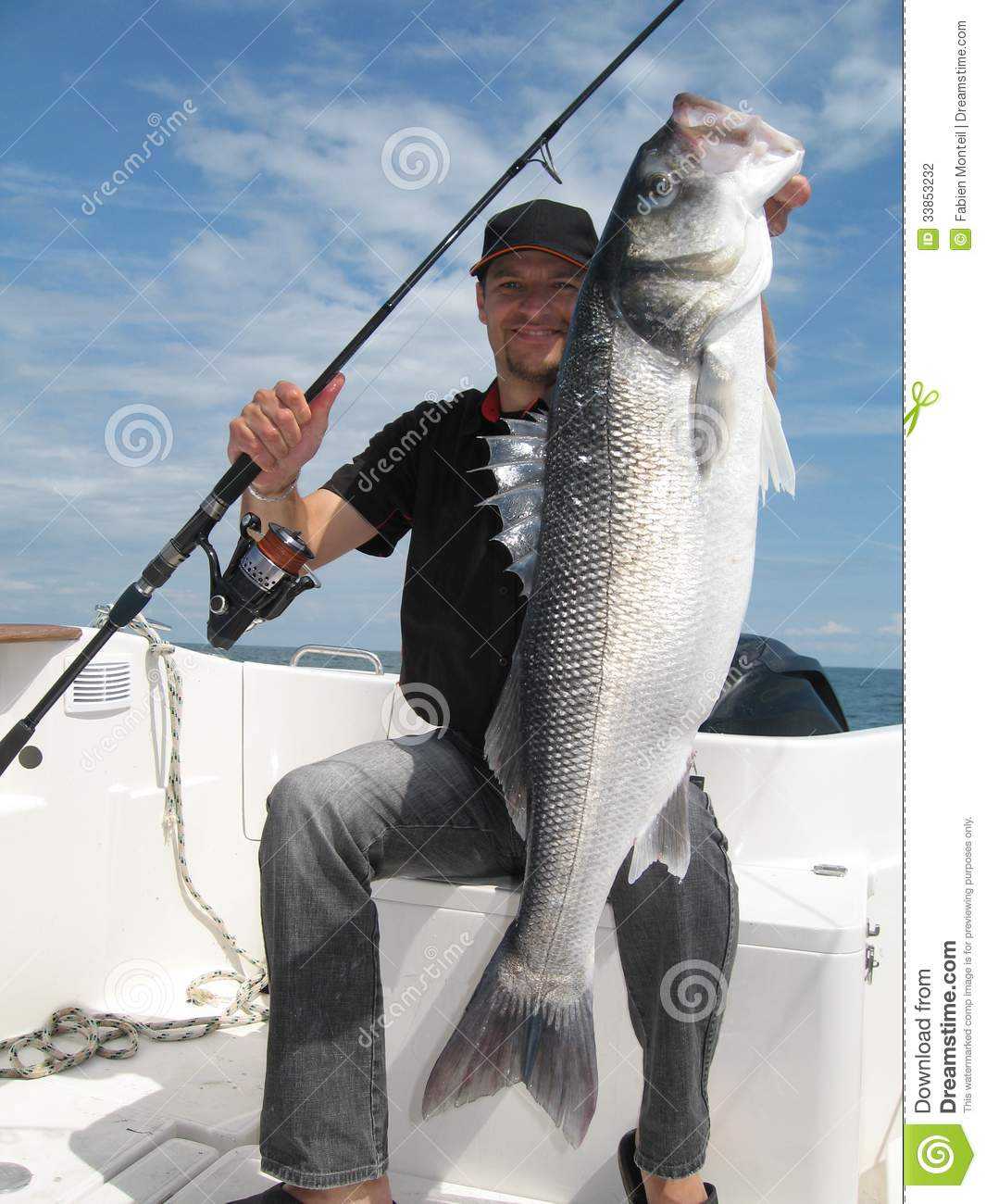 Sea bass stock photography image 33853232 for People catching fish