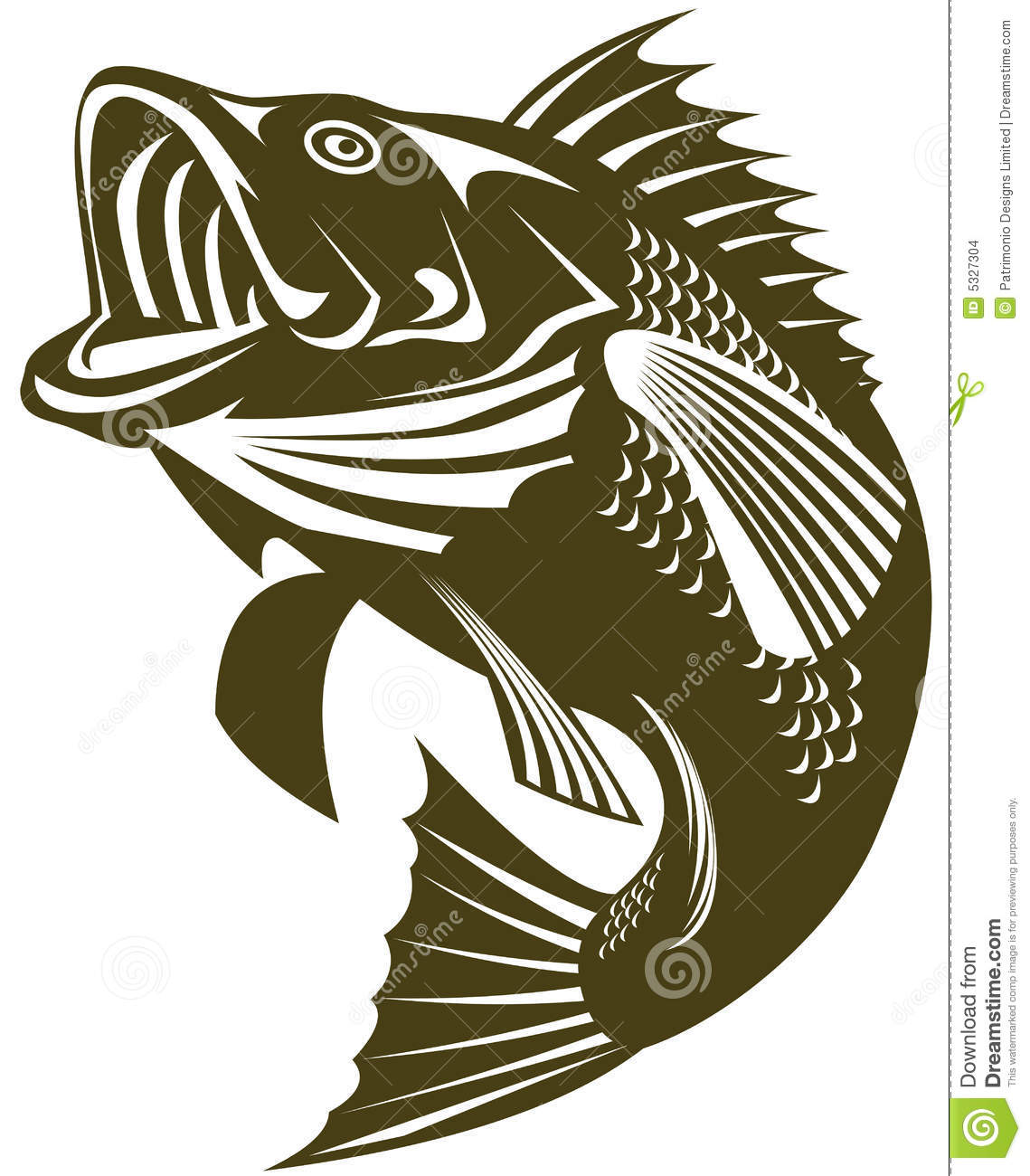 Sea Bass Jumping Stock Images - Image: 5327304