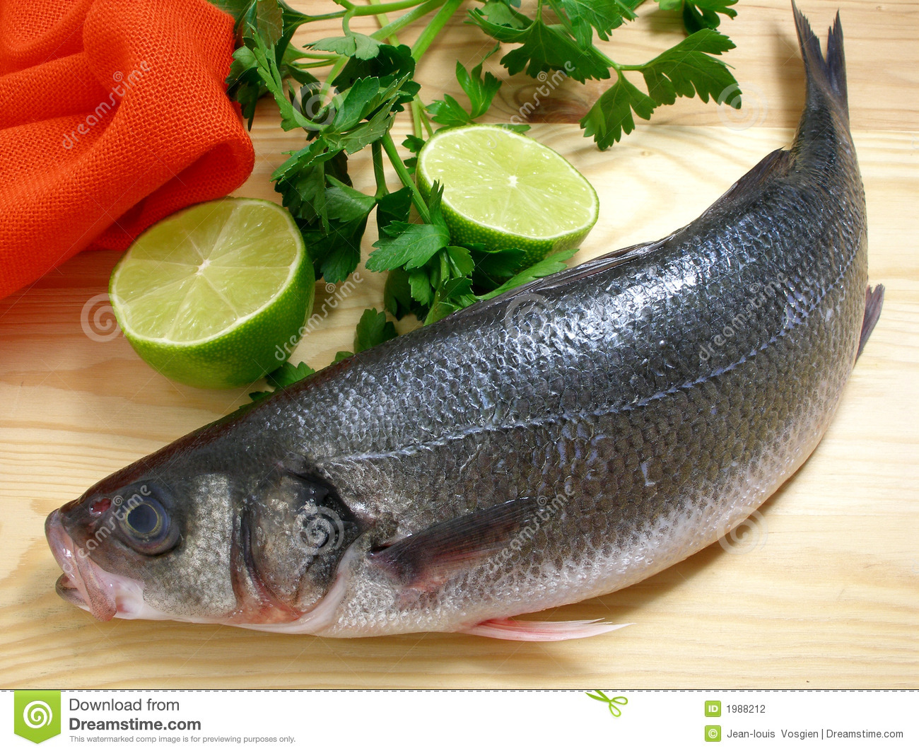 Sea bass with lime