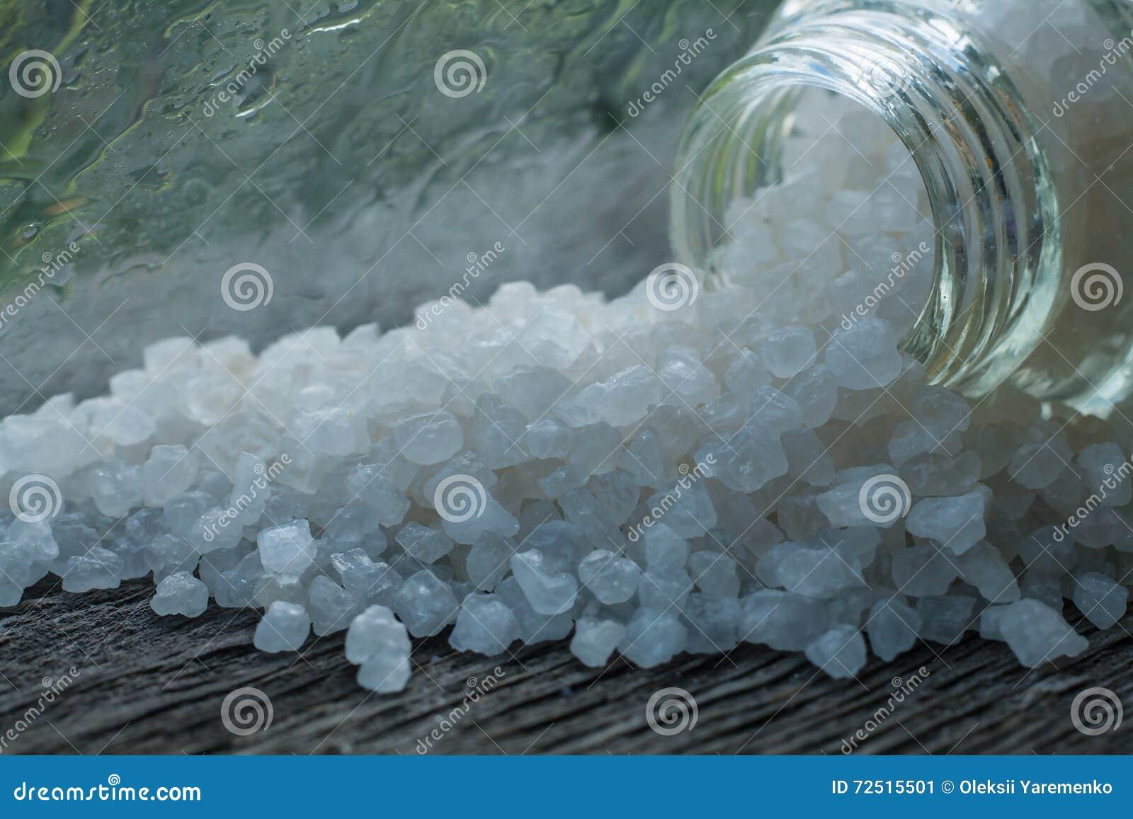 Sea Bath Salt . Smell Of Freshness Of A Rain Stock Image ...