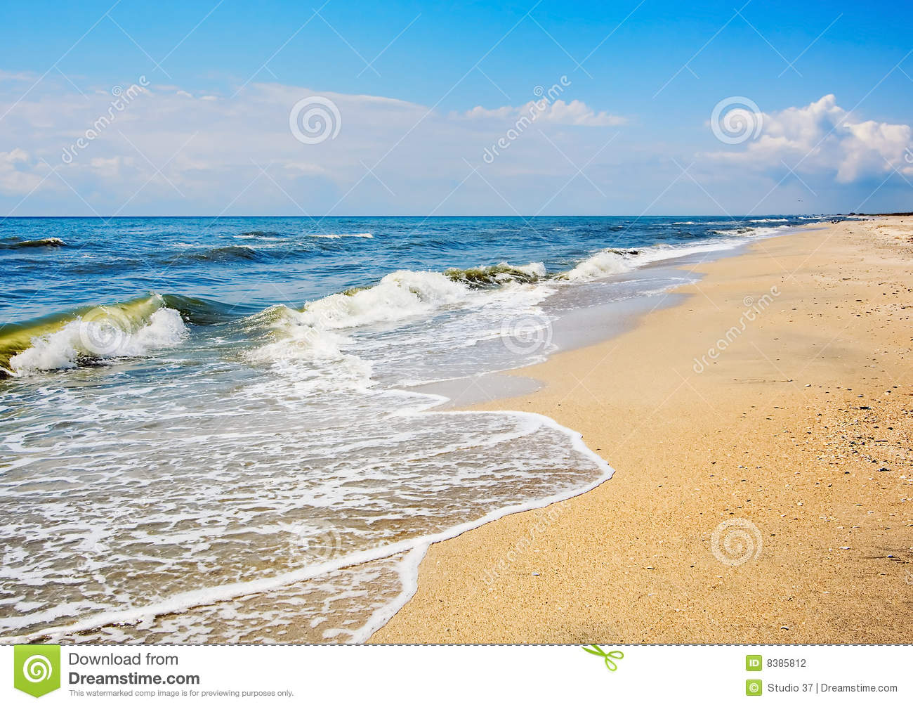 Sea And Beach Landscape Stock Photography - Image: 8385812