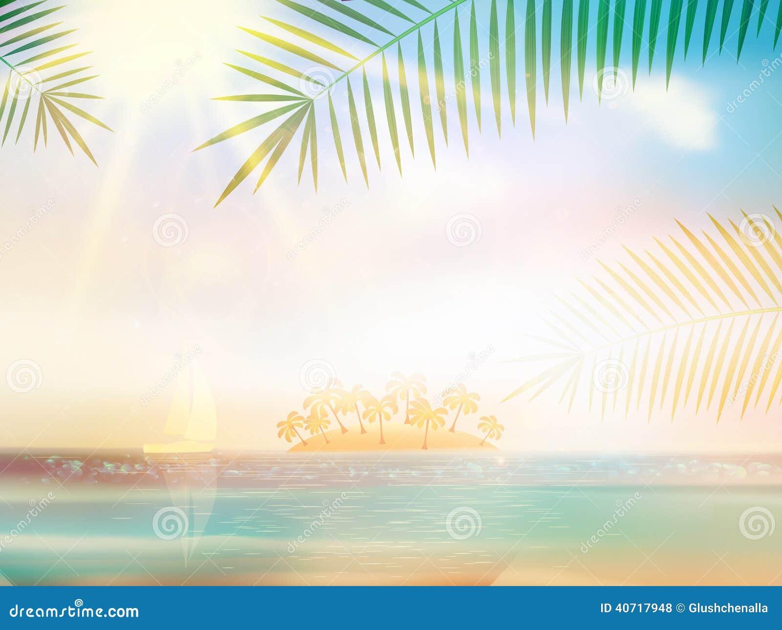sea beach for summer design template stock vector illustration of