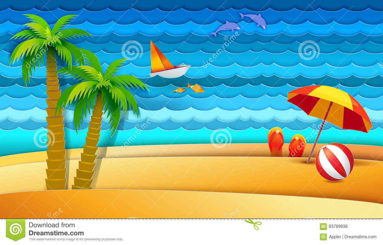 sea and bech holidays stock vector illustration of nature 93789936