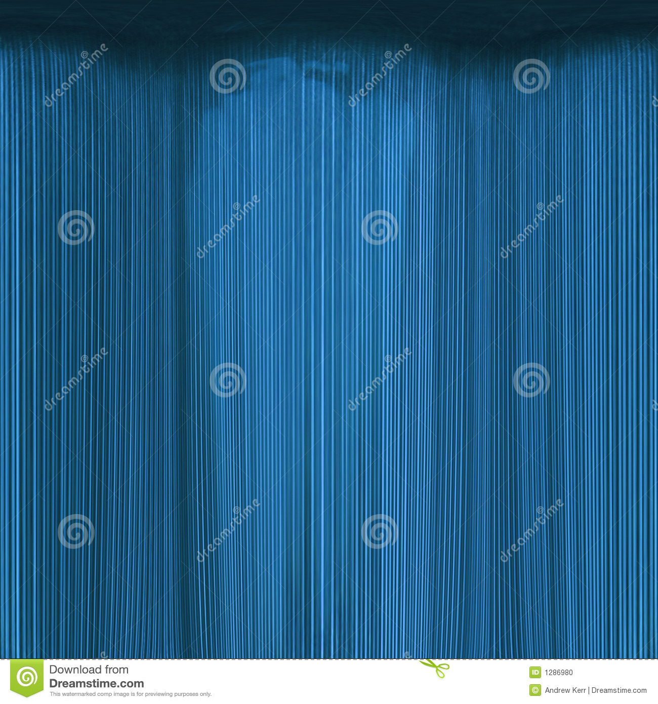 Sea-blue theatre-curtain abstract
