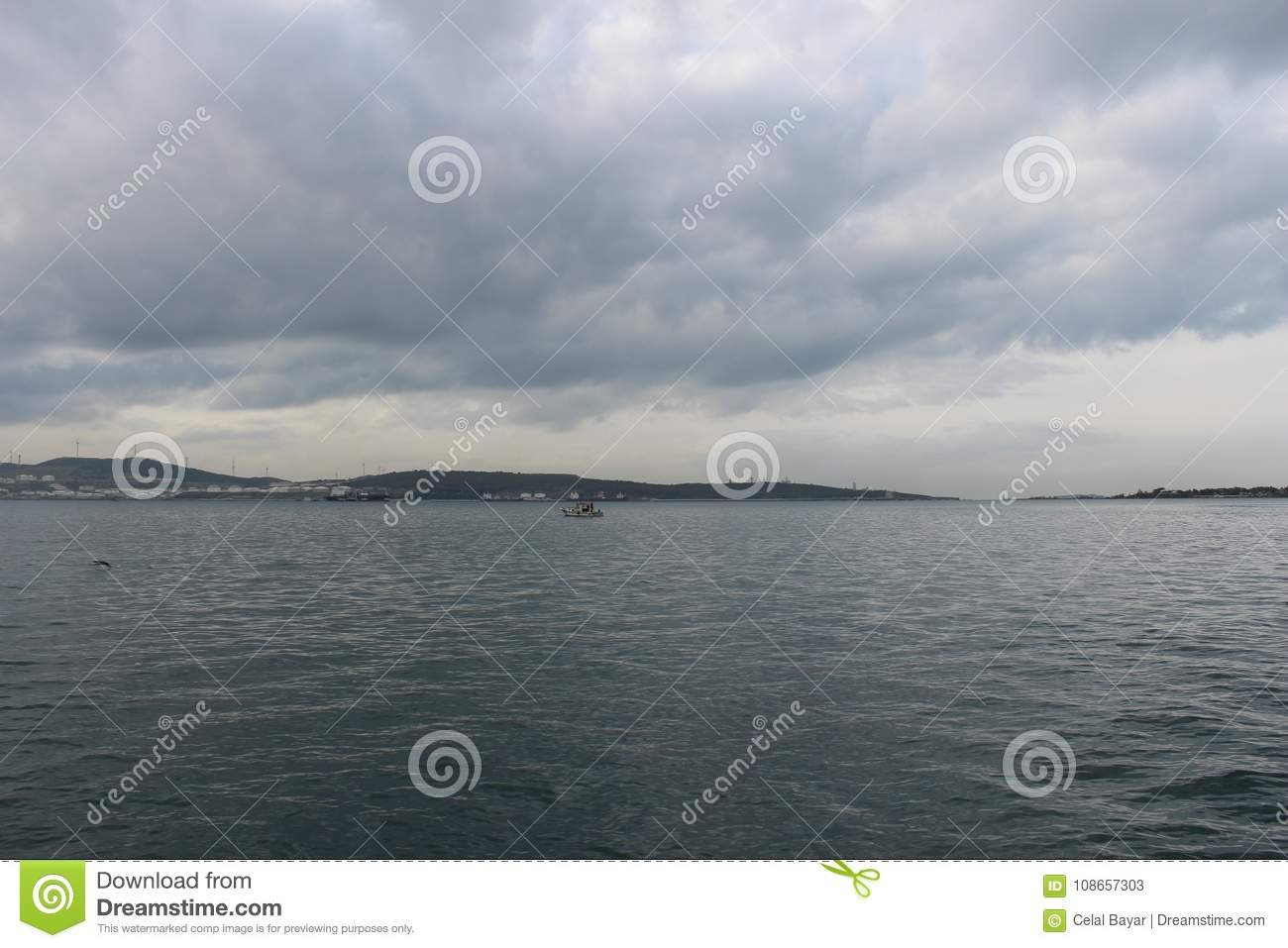 Download Sea and clouds stock image. Image of green, clean, separate - 108657303