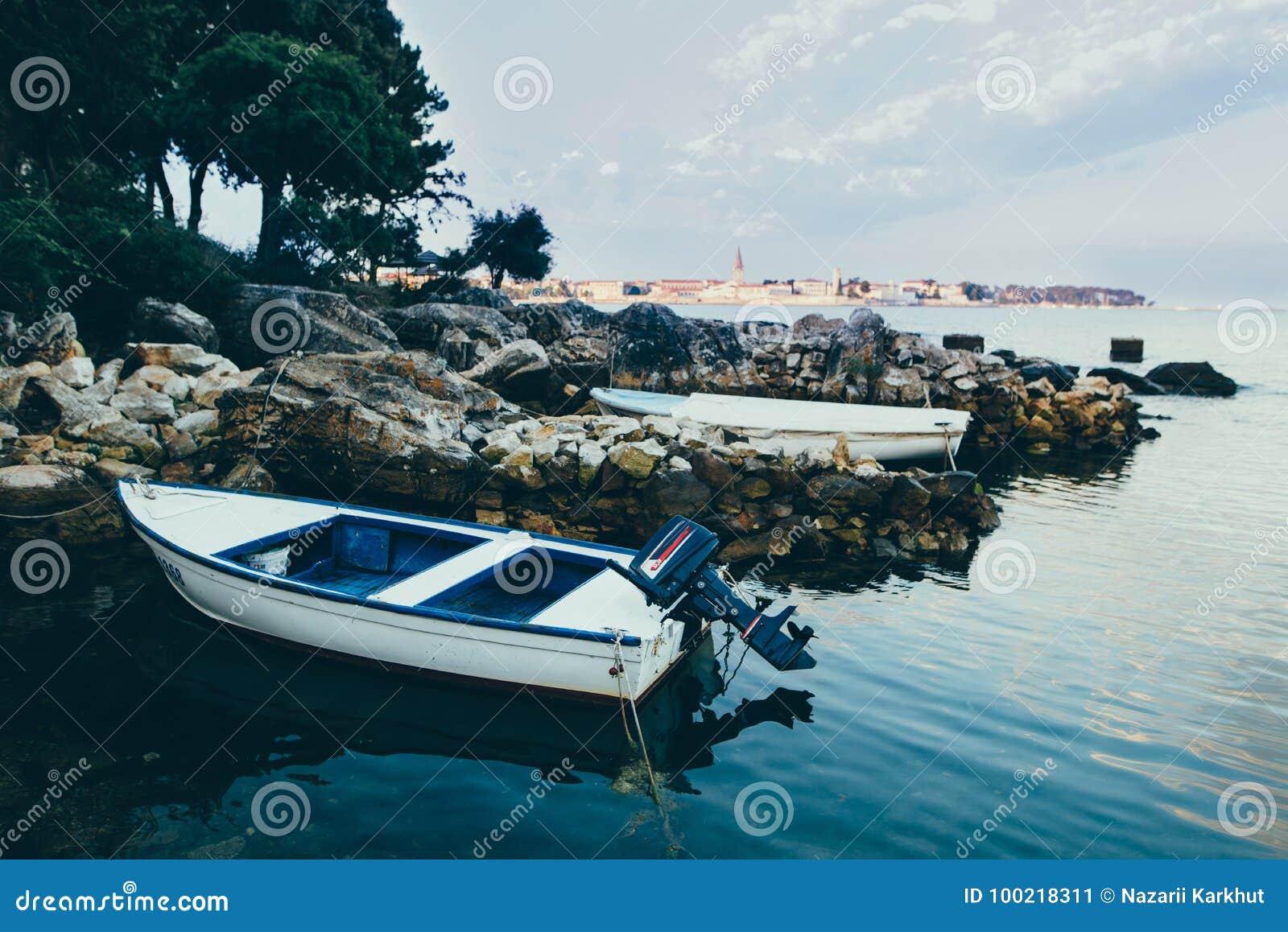 Fort Pierce Marina Sunset Fishing Boat   Royal Stock Photo