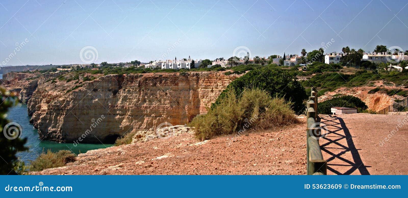 Sea at the coast of Algarve, Portugal stock photo