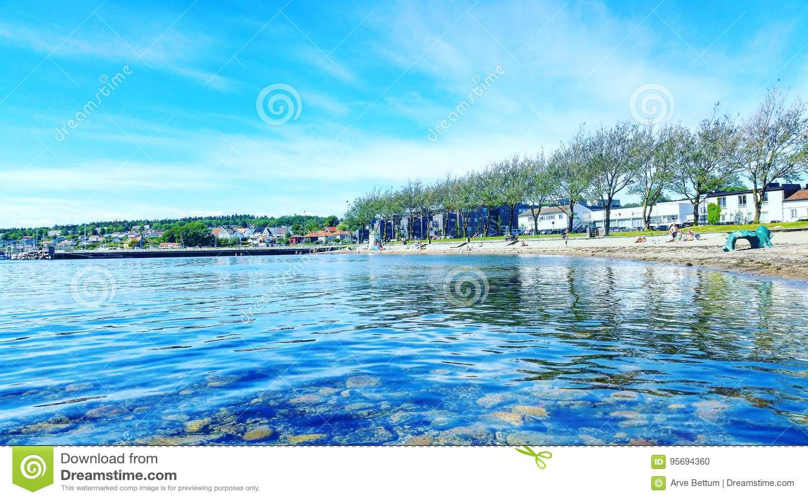 Sea coast in Moss Norway