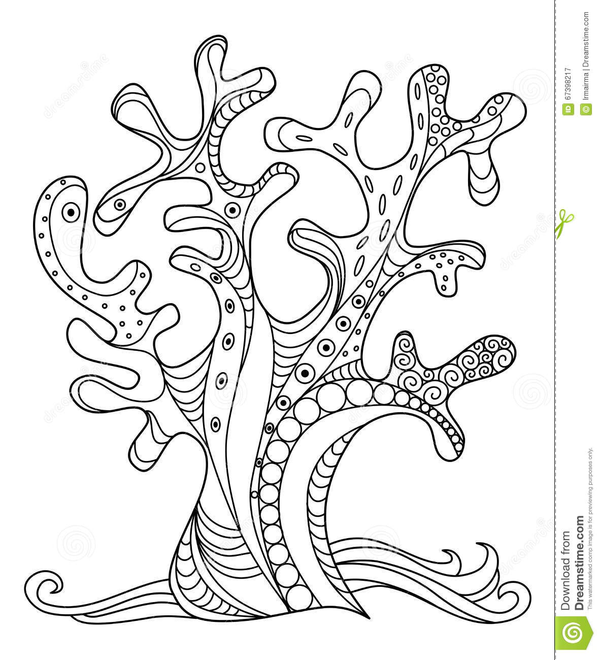 sea coral stock vector image 67398217