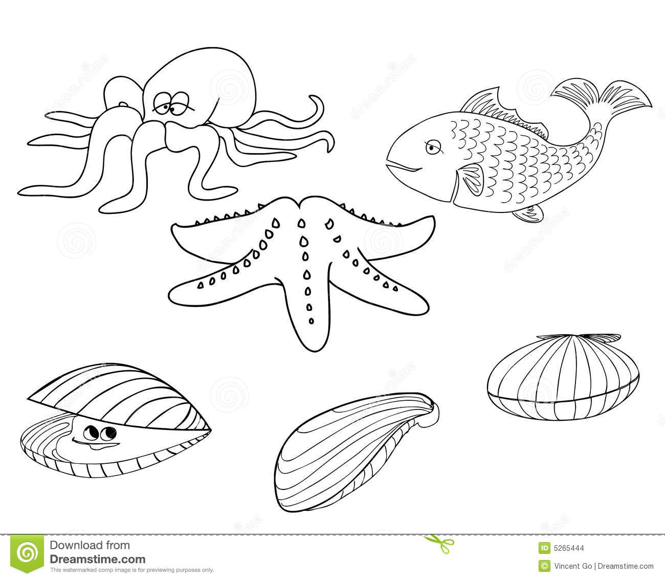 Sea Creatures 1 Stock Images Image 5265444