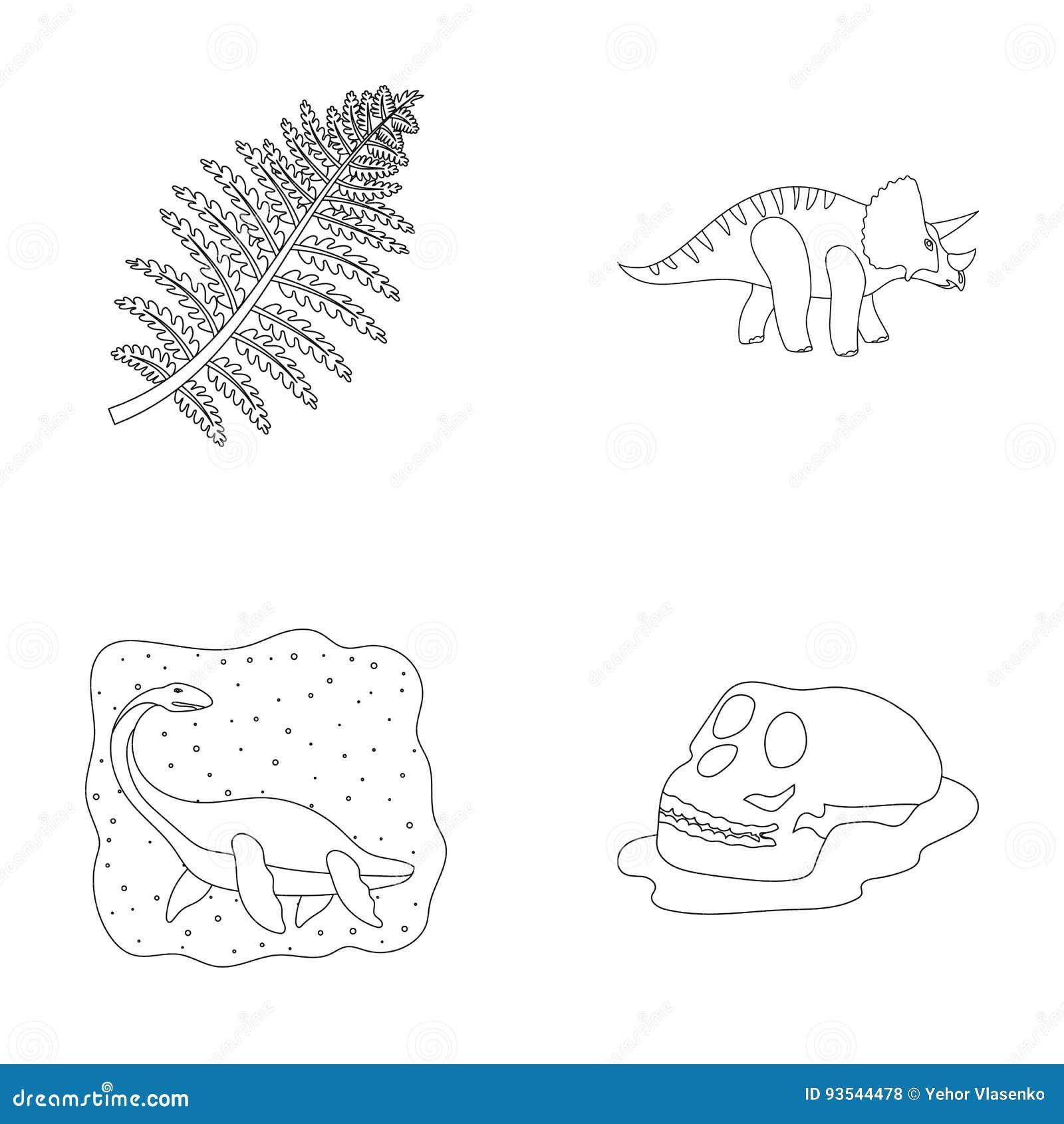 Sea Dinosaur Triceratops Prehistoric Plant Human Skull Dinosaur
