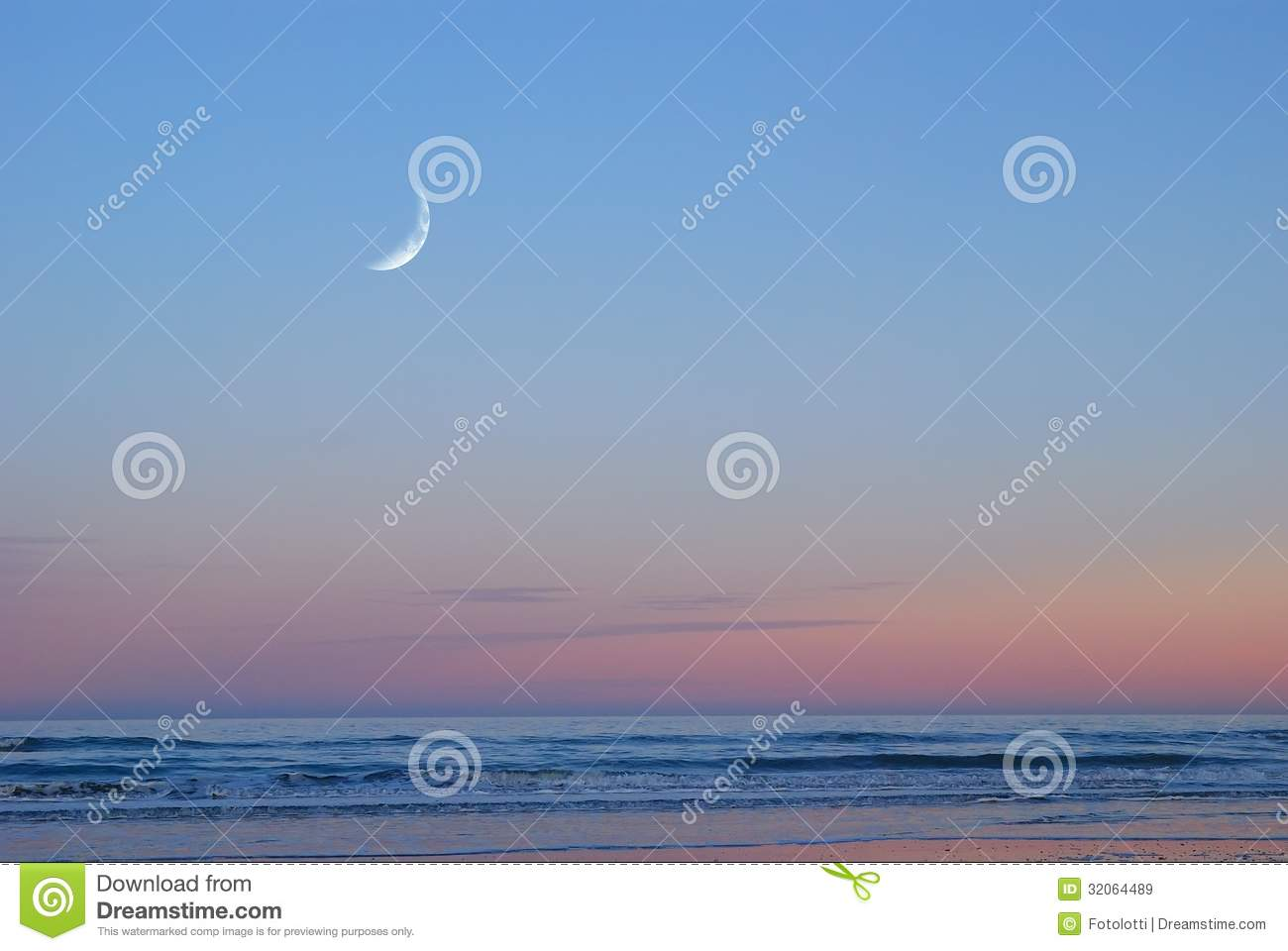 Sea In The Evening In Summer Royalty Free Stock Images