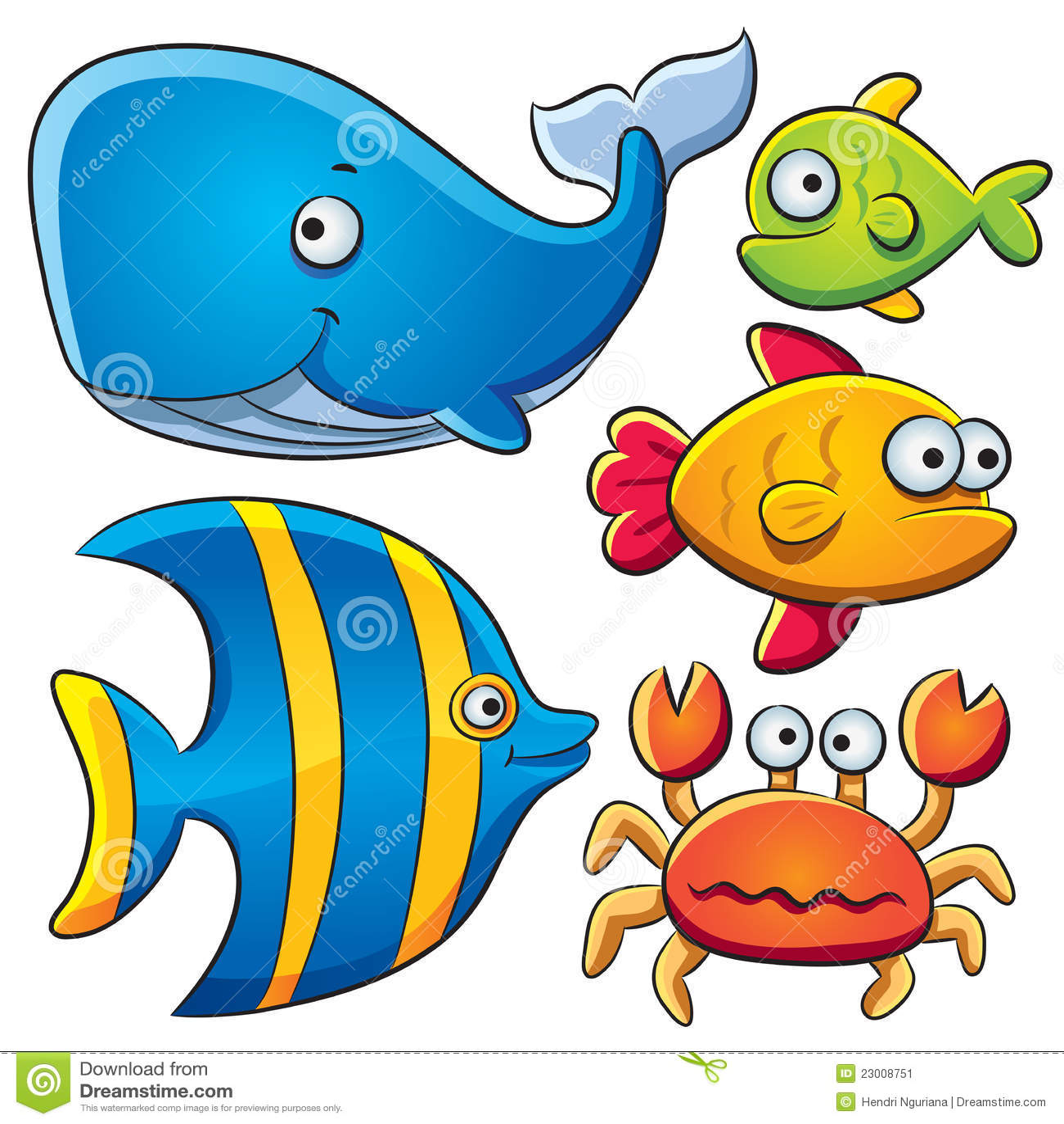 Sea fish collection stock image image 23008751 - Dessins de poissons de mer ...