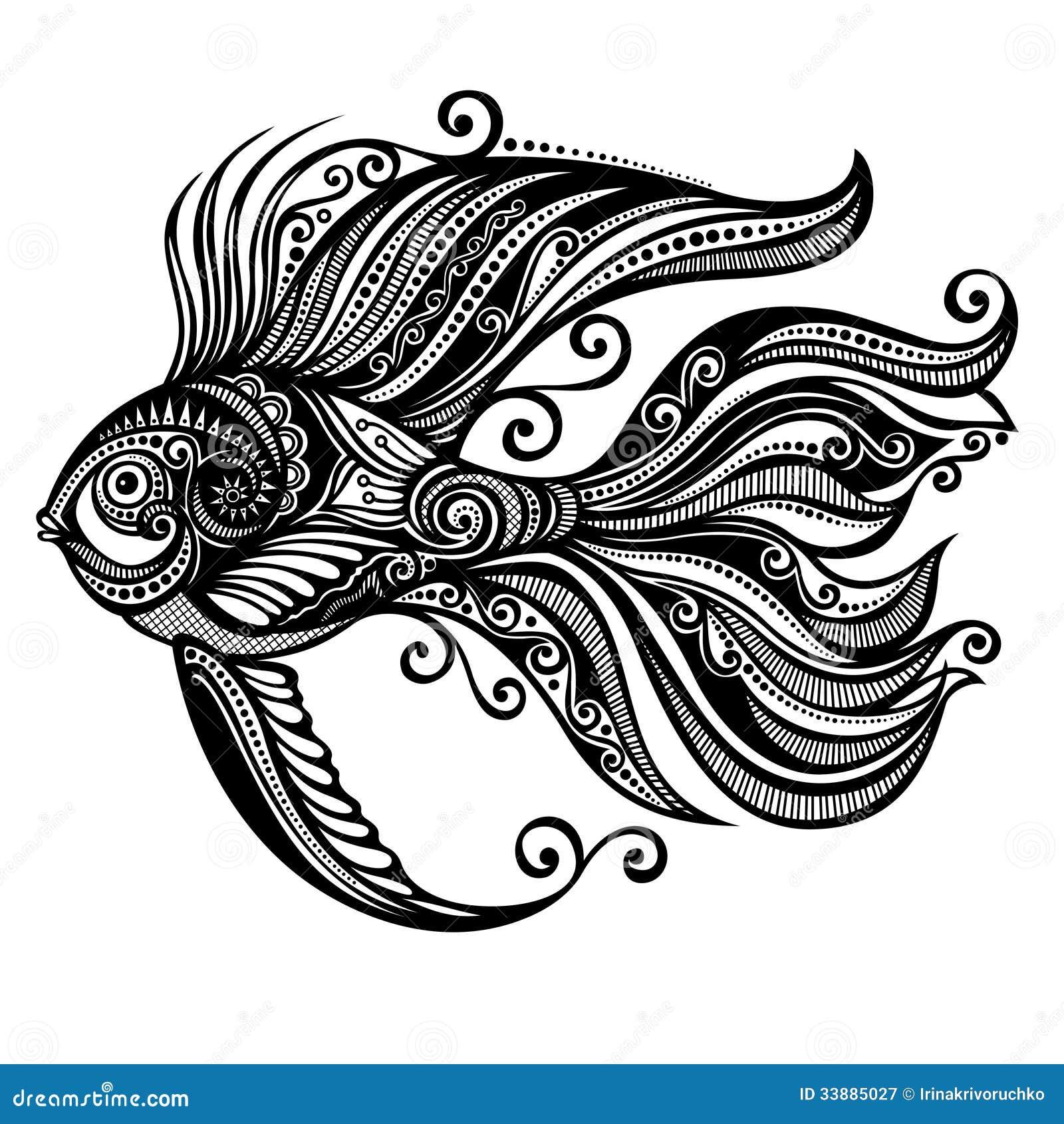 Abstract fish designs - photo#4