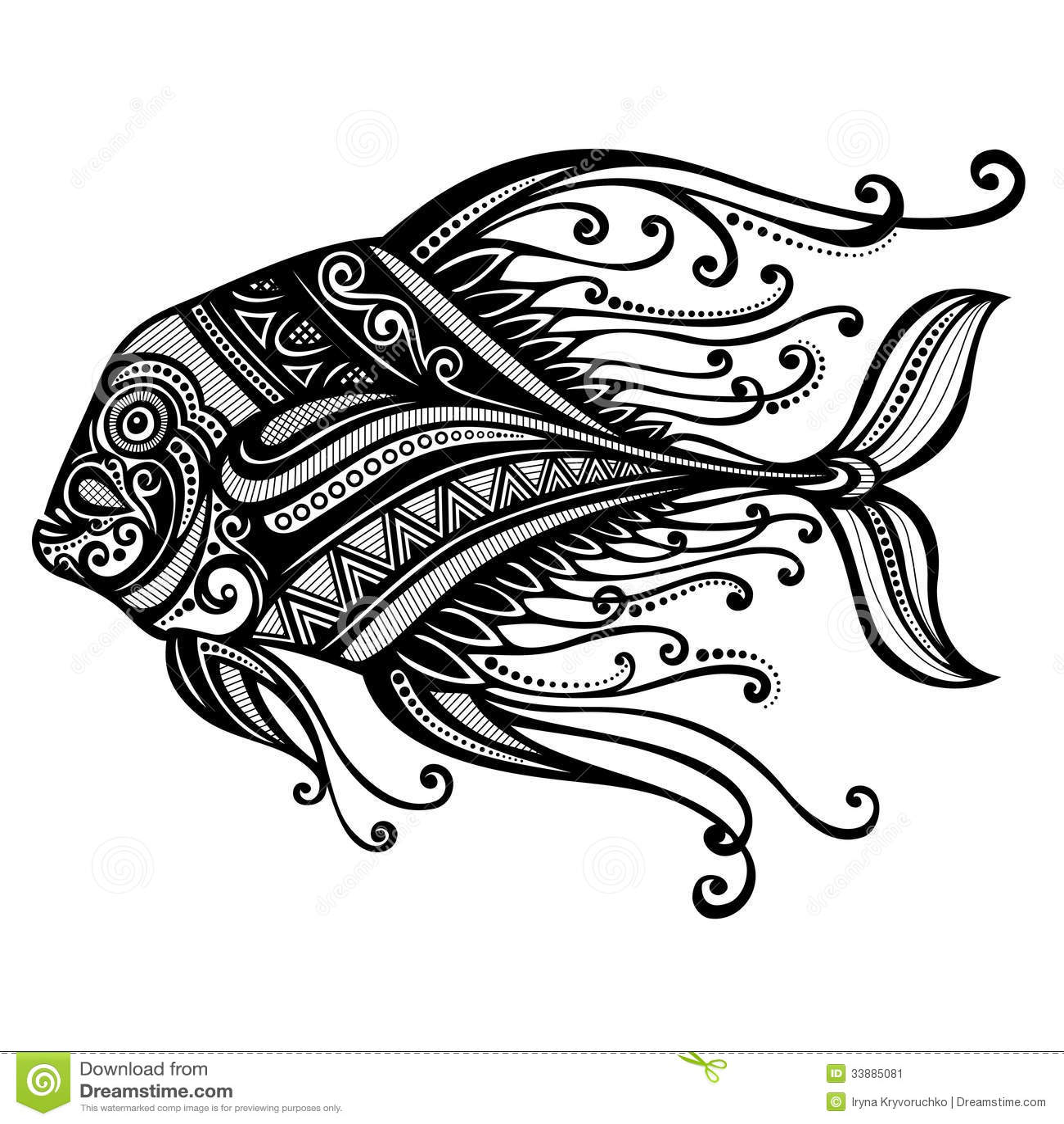 Abstract fish designs - photo#2