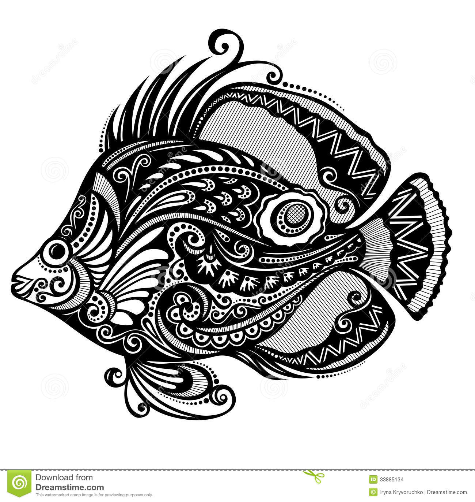 Abstract fish designs - photo#9