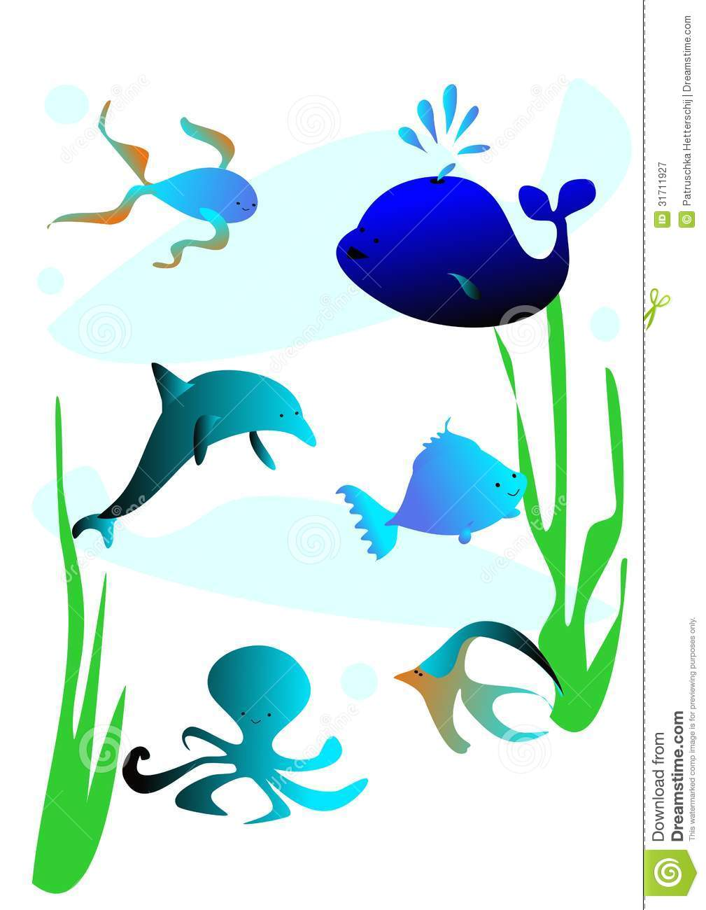 sea fish stock illustration illustration of dolphin 31711927 rh dreamstime com sea clip art free sea clipart background