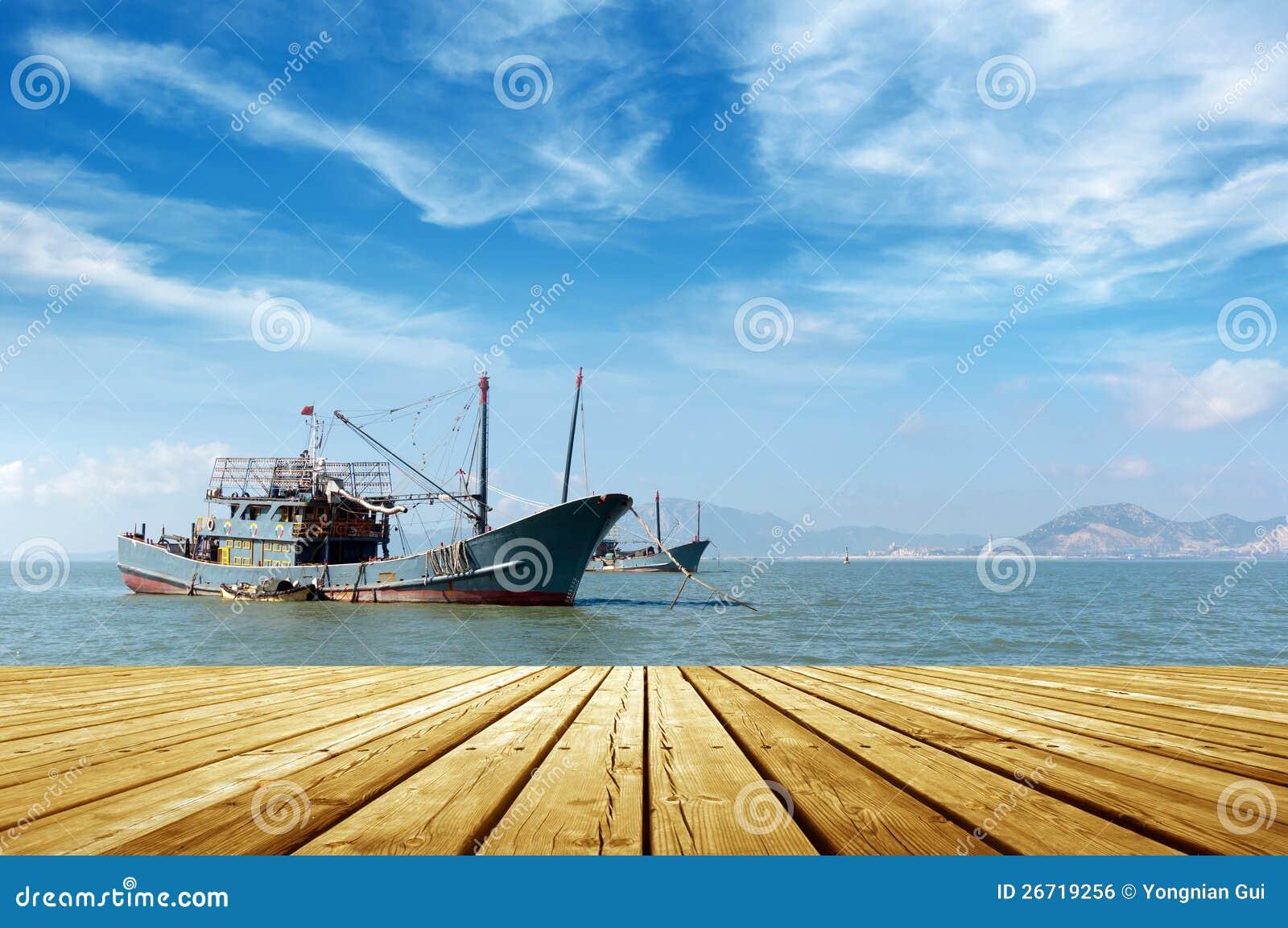 Deep sea fishing boats stock photography cartoondealer for Ocean fishing boats