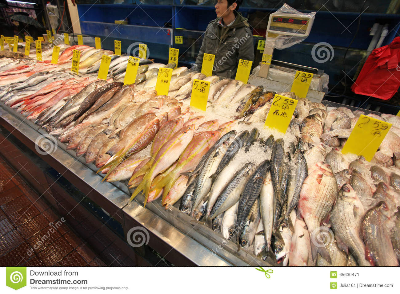 Sea Food In China Town Market NYC USA Editorial Photo Image - United states of america cuisine