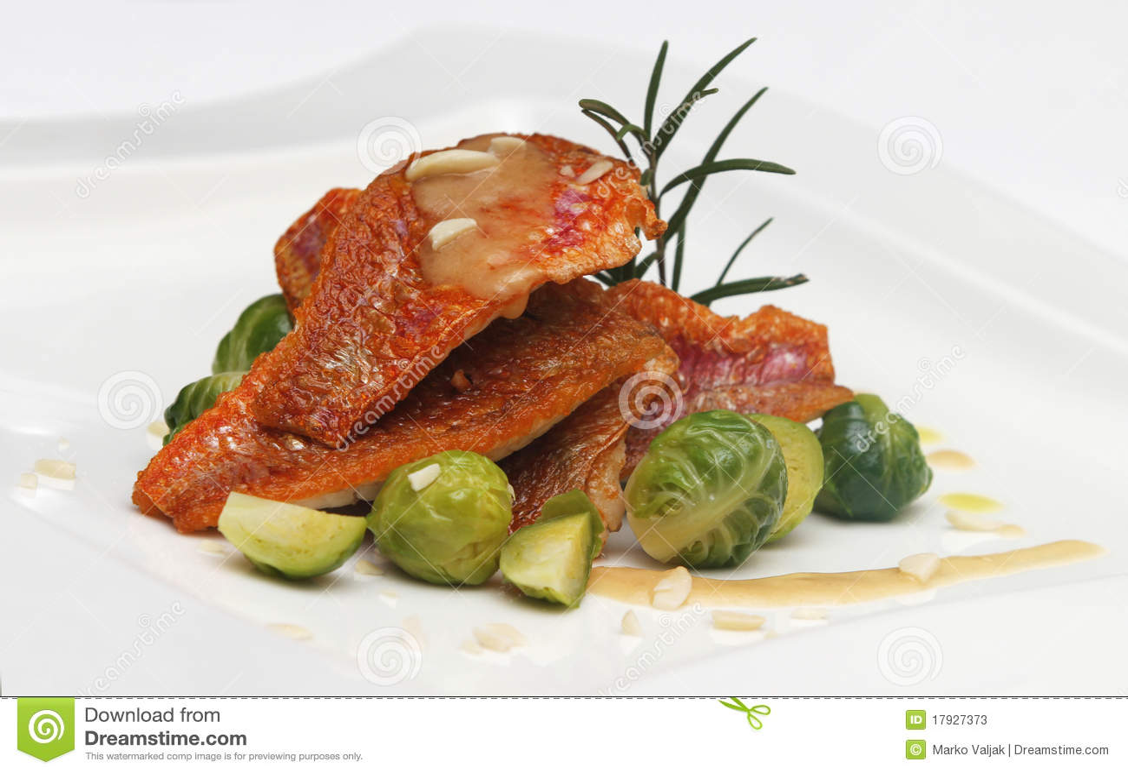 Sea food on plate