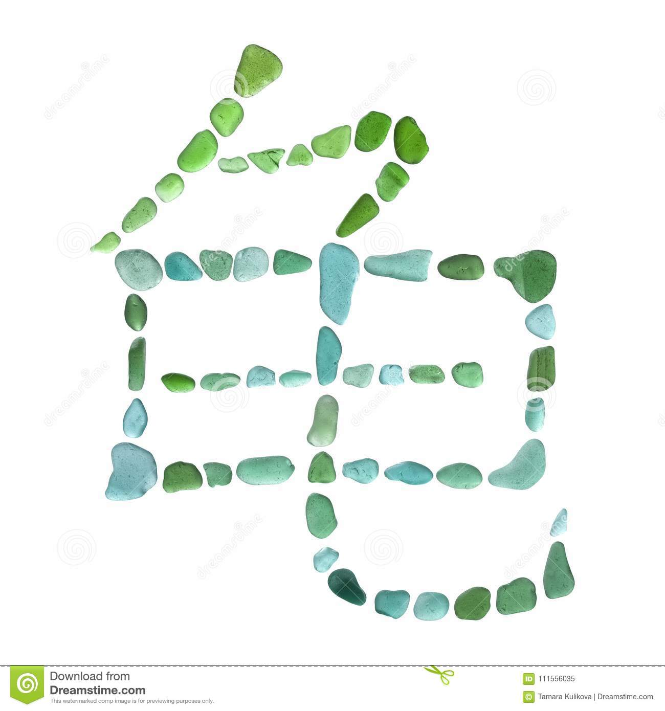 Sea Glass Symbol Stock Image Image Of Beachcombing 111556035