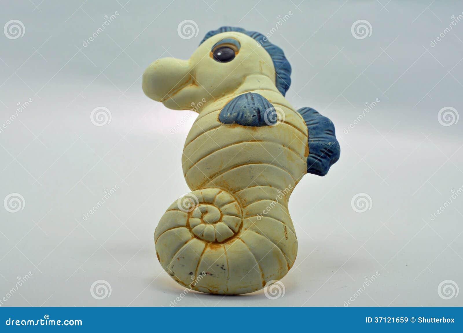 Sea Horse Ceramic Bathroom Ornament Stock Image Image Of Objects