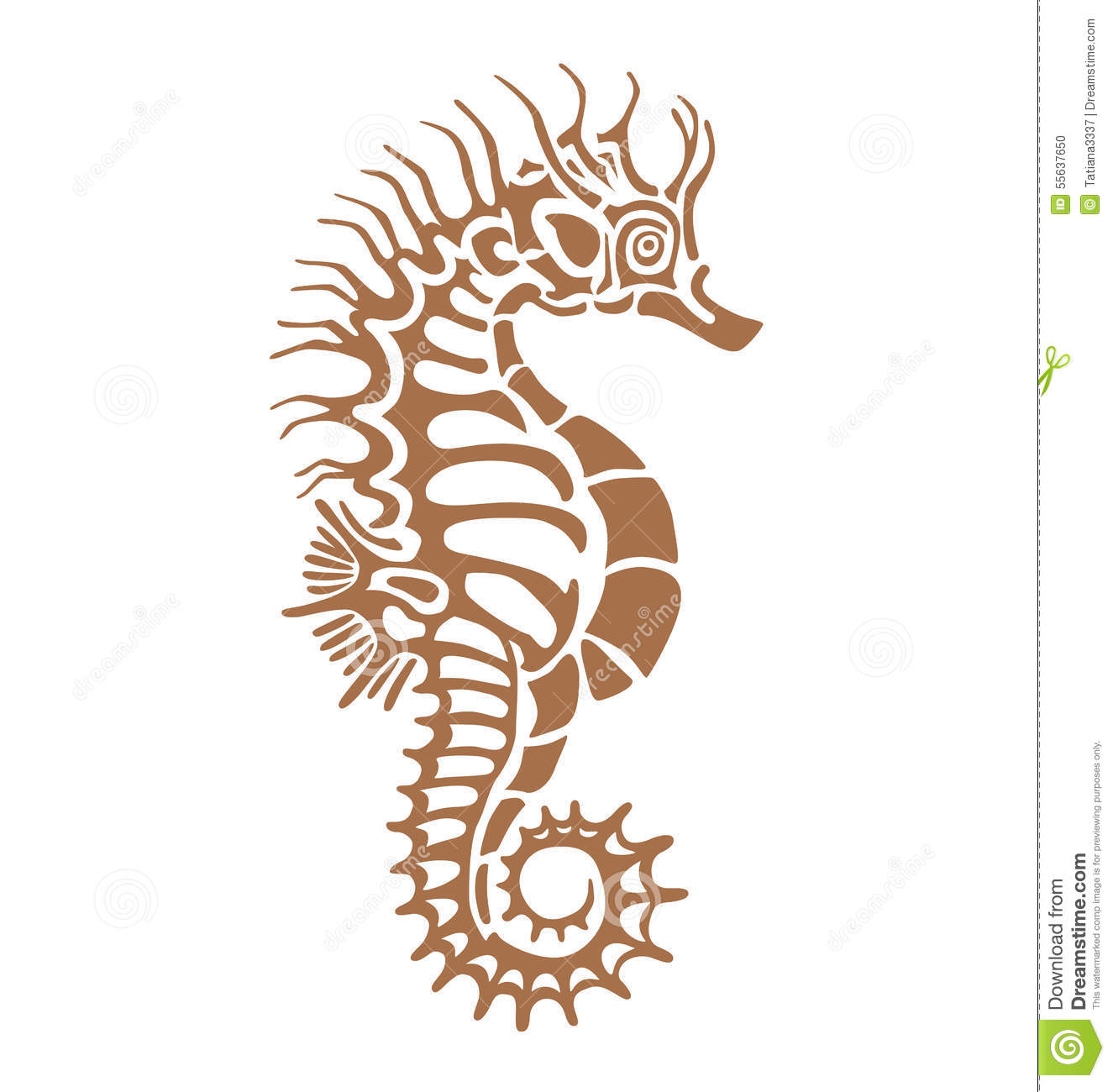 Stock Illustration Sea Horse Seahorse Made One Color Under Stencil Can Decorate Your Plaster Imprint Antiquity Image55637650 on Stock Illustration Fish Silhouette
