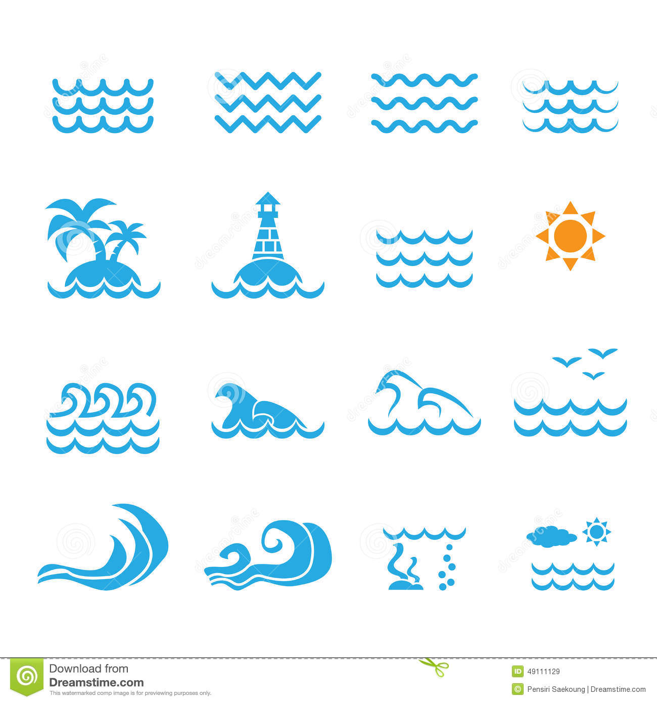 Sea Icon Stock Vector Illustration Of Abstract Drink 49111129