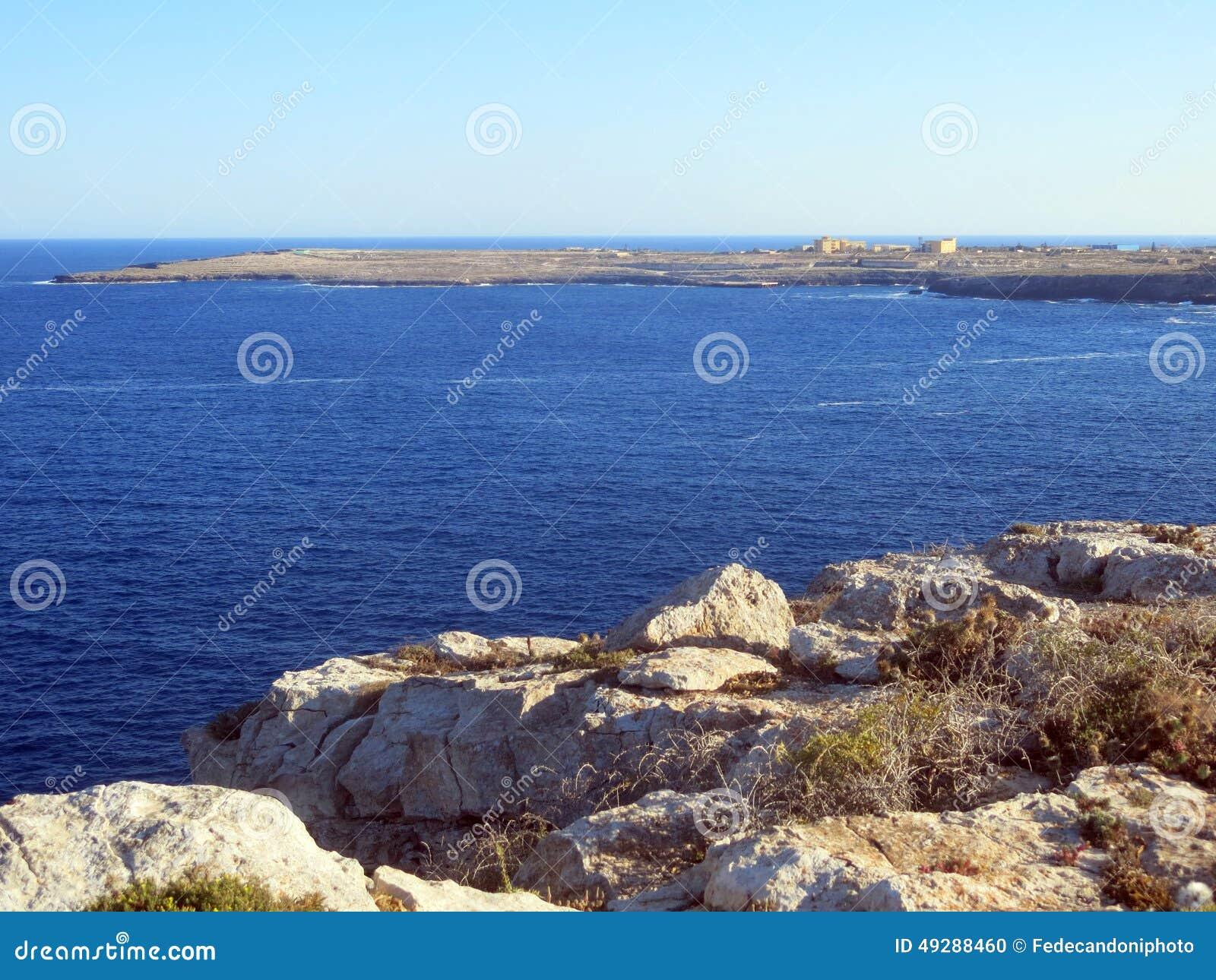 Sea of the LAMPEDUSA island in Italy