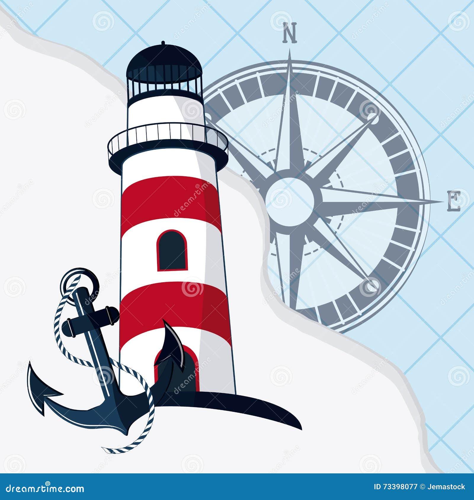Sea Life Design, Nautical And Marine Concept, Illustration