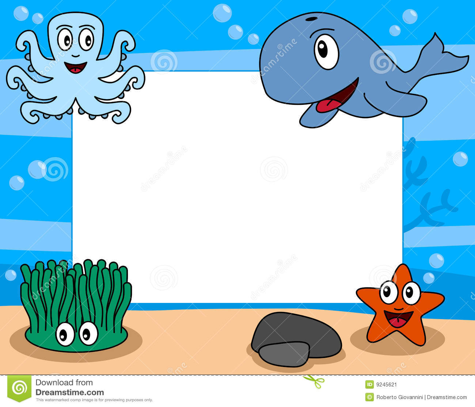 Sea Life Photo Frame [2] Illustration 9245621 - Megapixl