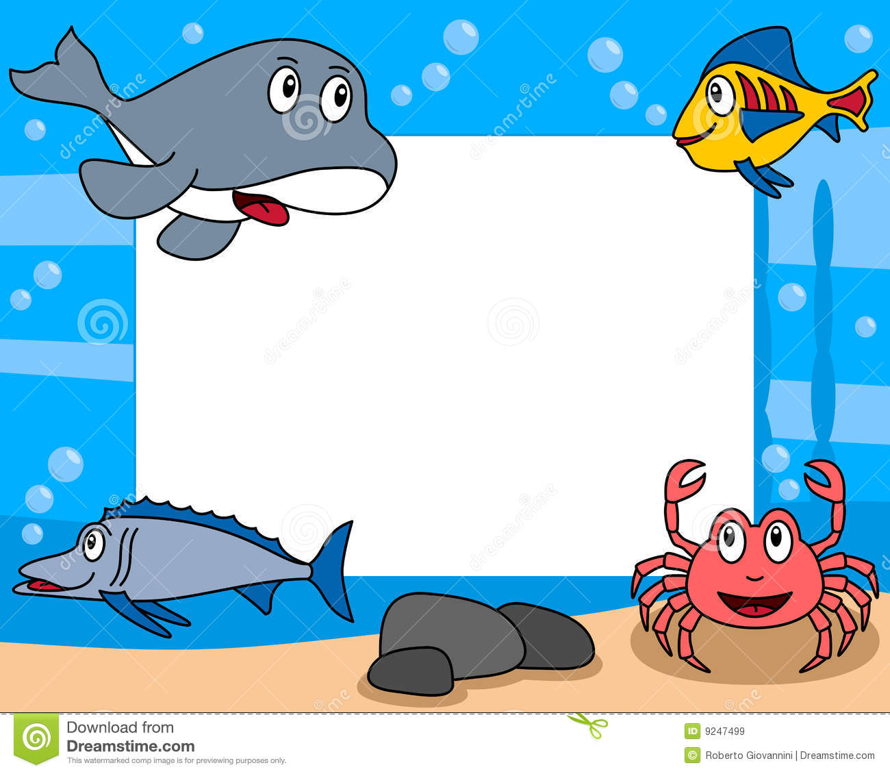 Sea Life Photo Frame 3 Royalty Free Stock Images Image 9247499