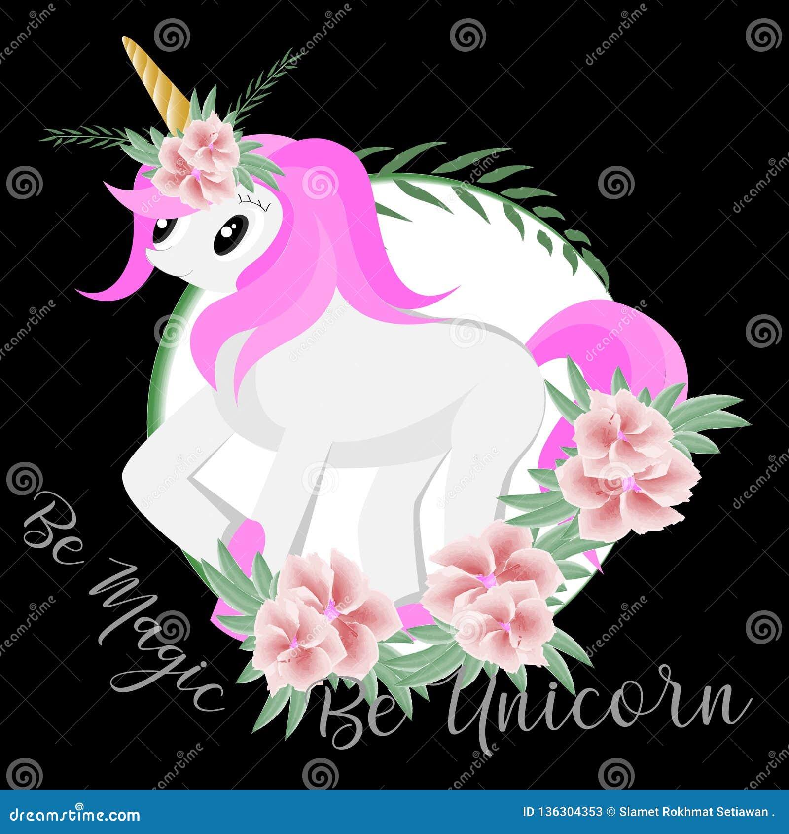 Sea mágico sea unicornio con el ejemplo de la acuarela