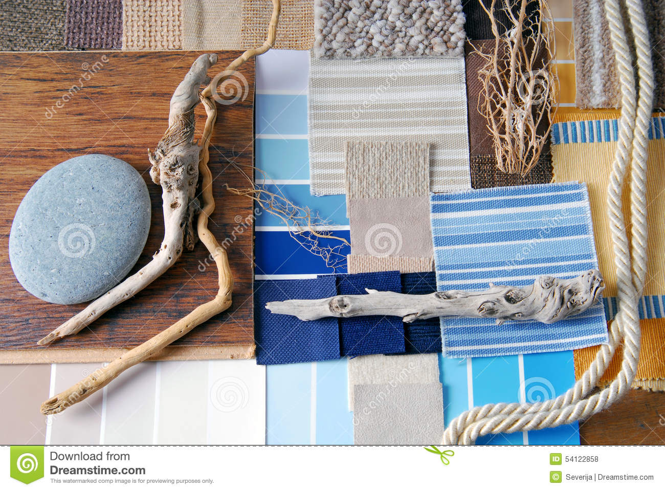 Sea and marina style concept stock photo image 54122858 for Interior design color planner