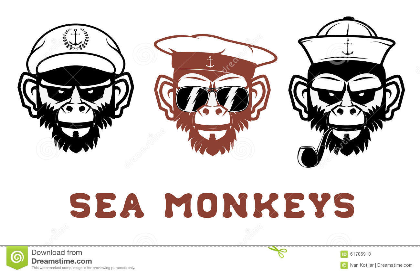 sea monkey stock vector illustration of illustration 61706918