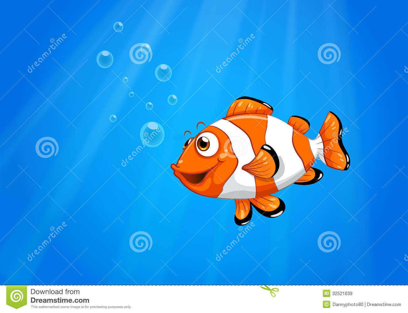 a sea with a nemo fish stock vector  illustration of blue