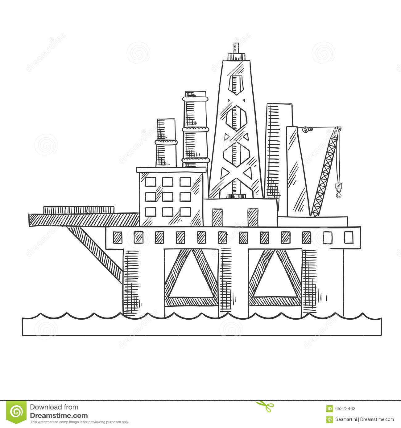 sea platform drilling offshore oil stock vector image Oil Derrick Clip Art Transparent Oil Derrick Clip Art Transparent